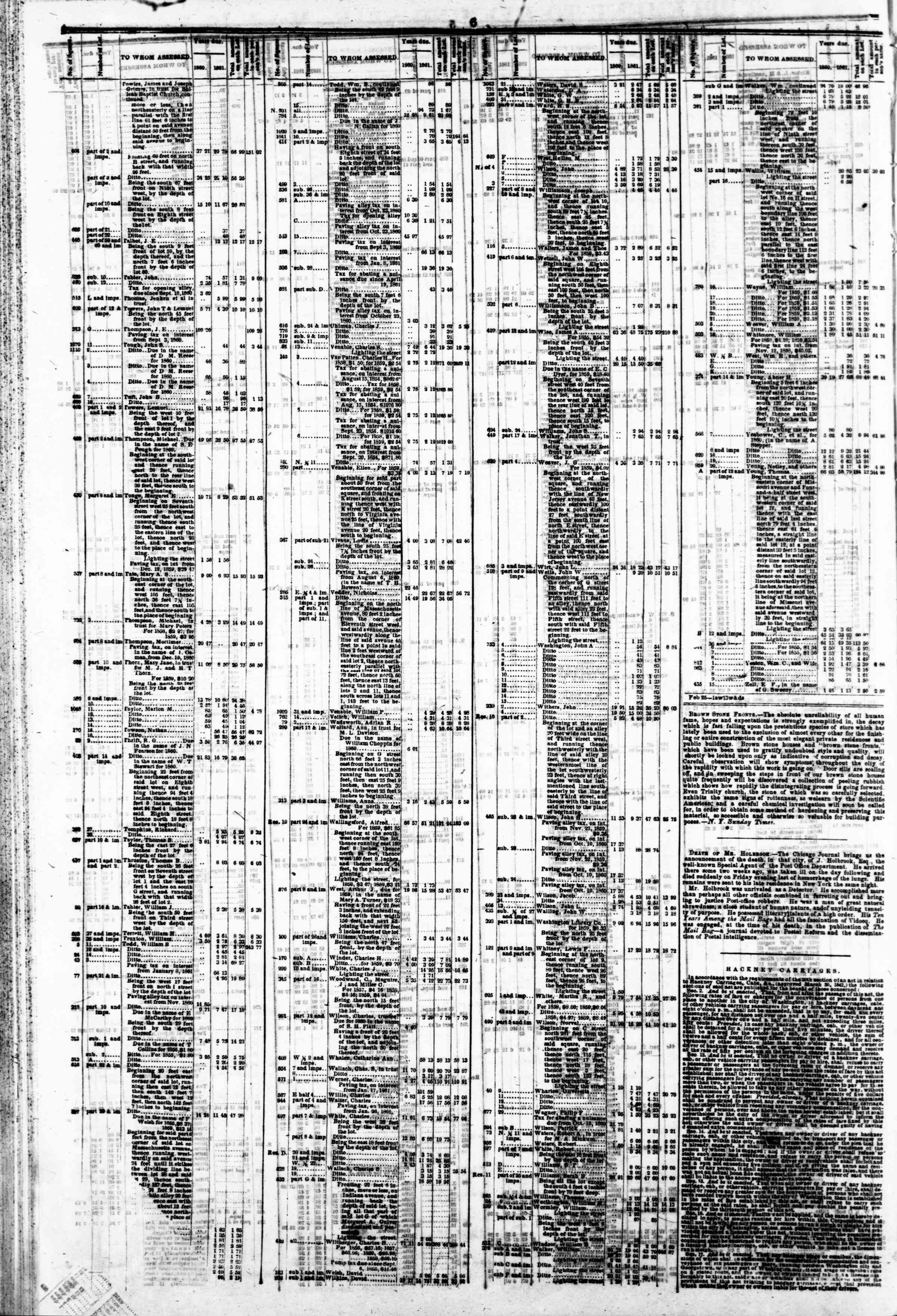 Newspaper of Evening Star dated March 18, 1862 Page 10