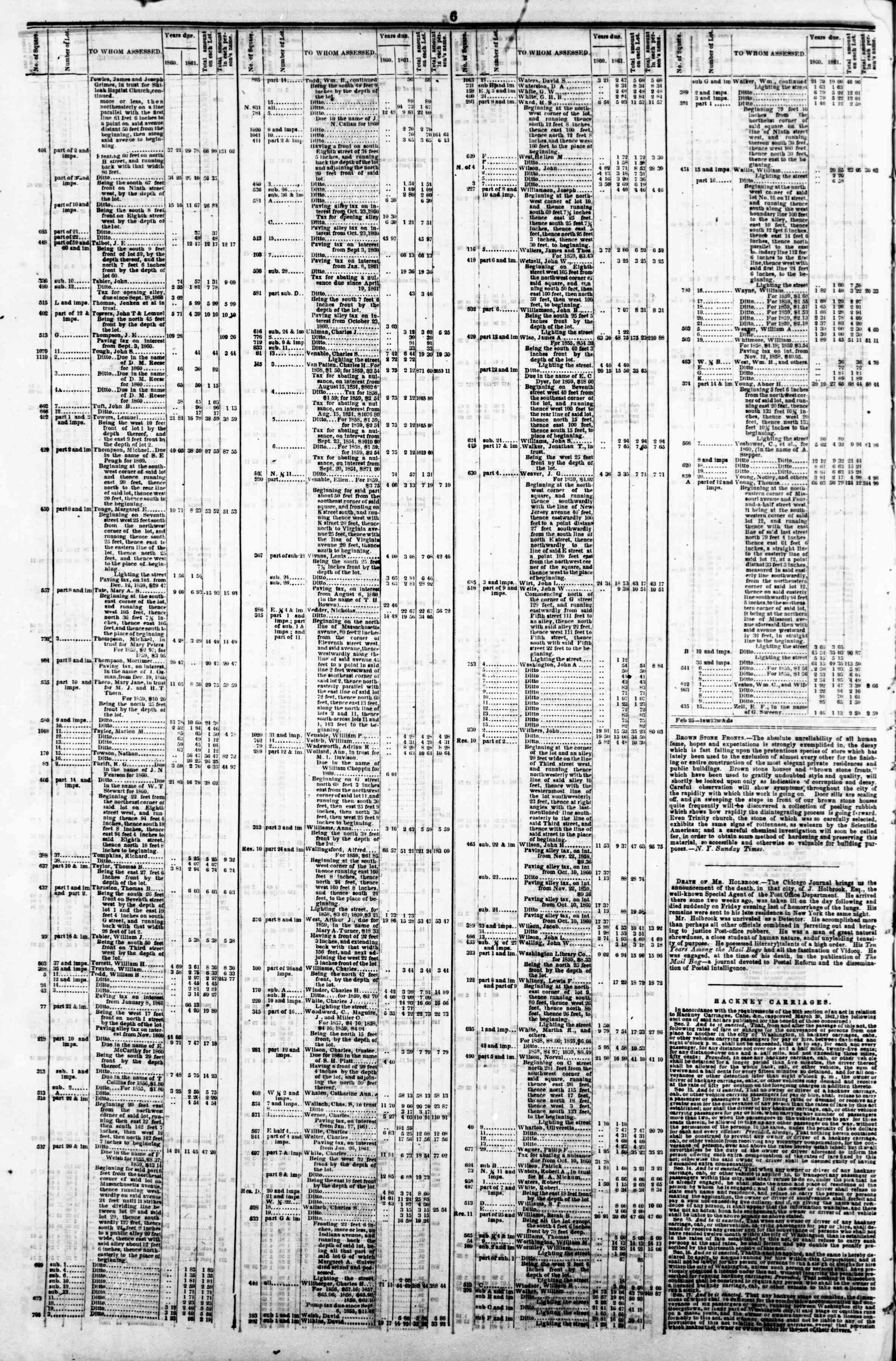 Newspaper of Evening Star dated March 25, 1862 Page 10