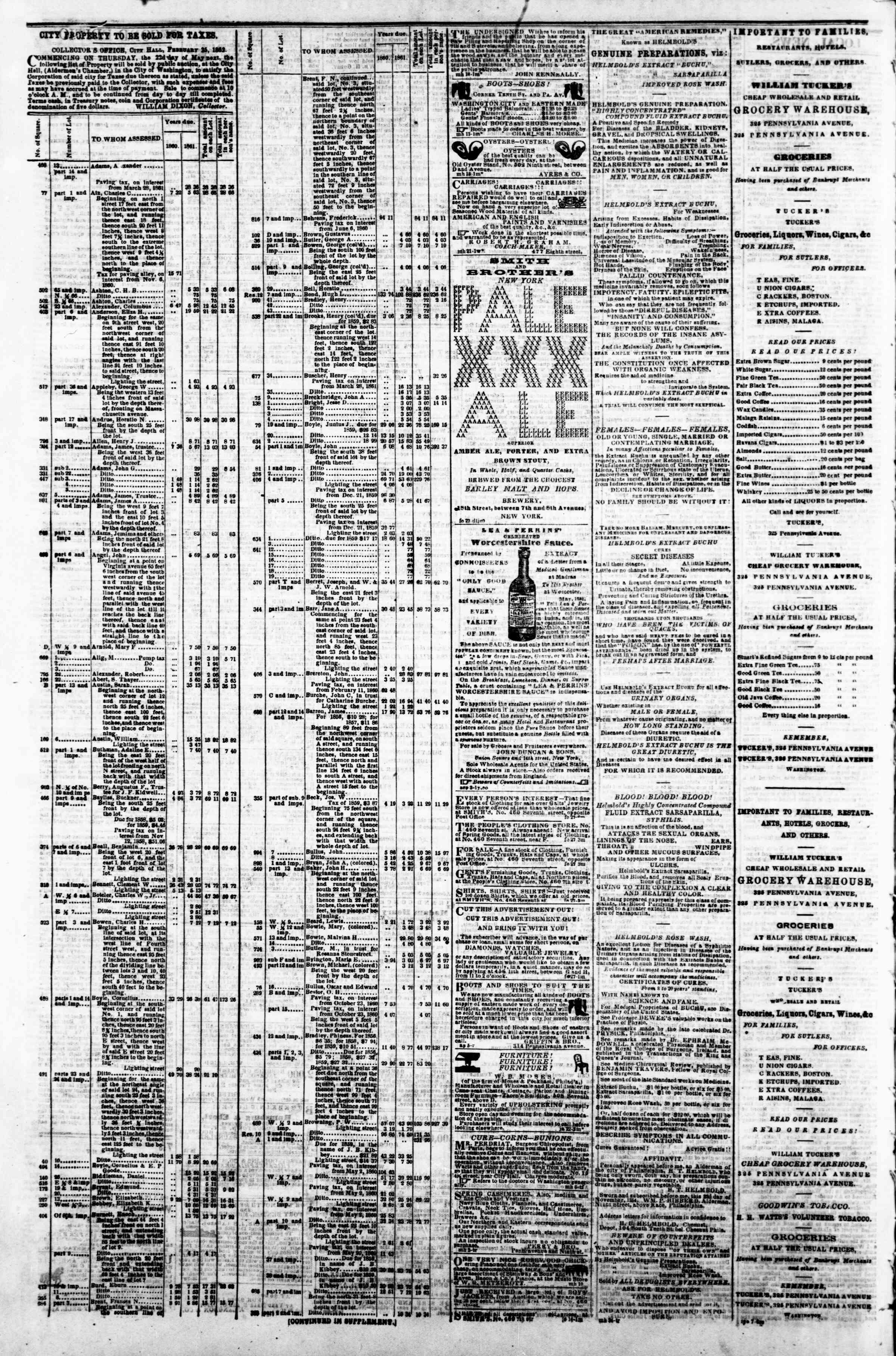 Newspaper of Evening Star dated April 1, 1862 Page 4