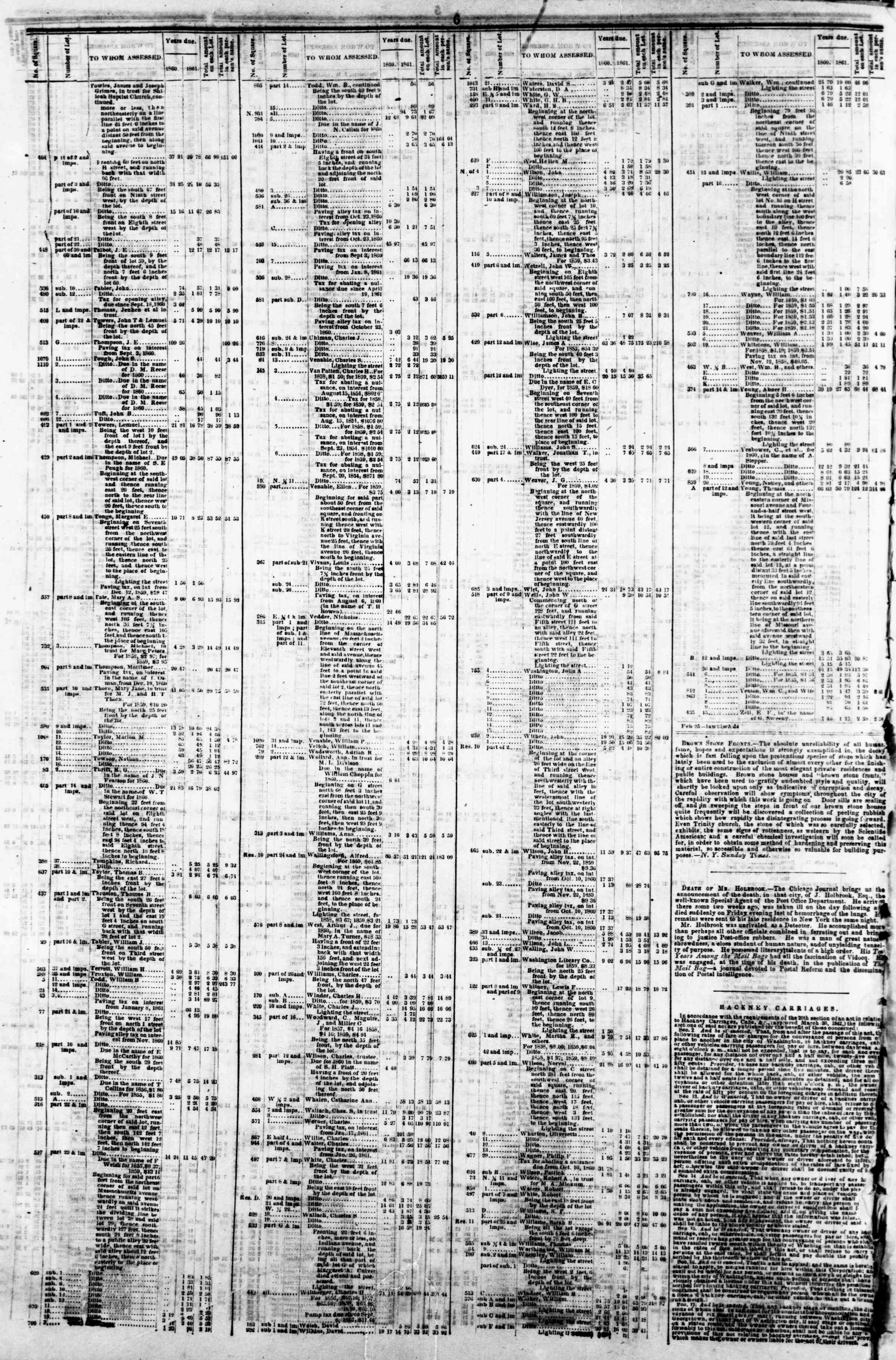 Newspaper of Evening Star dated April 8, 1862 Page 10
