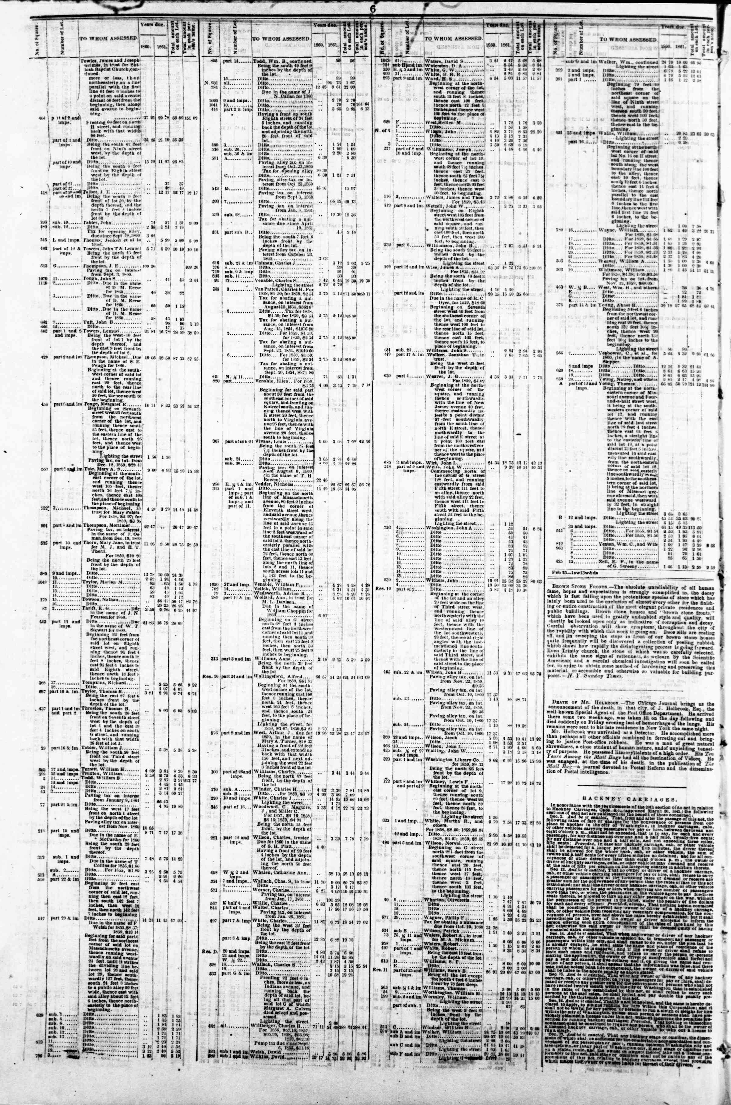 Newspaper of Evening Star dated April 15, 1862 Page 10