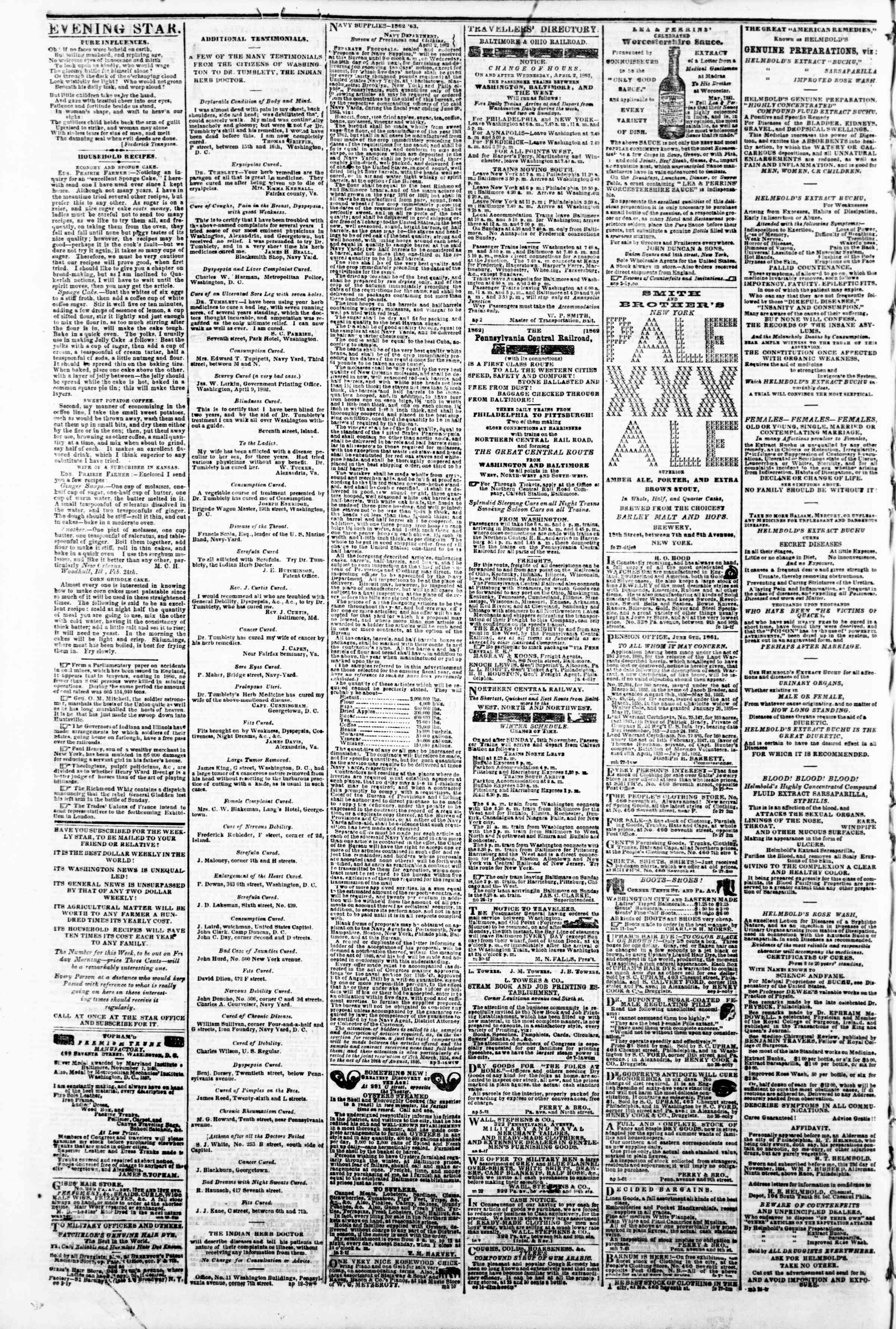 Newspaper of Evening Star dated April 17, 1862 Page 4