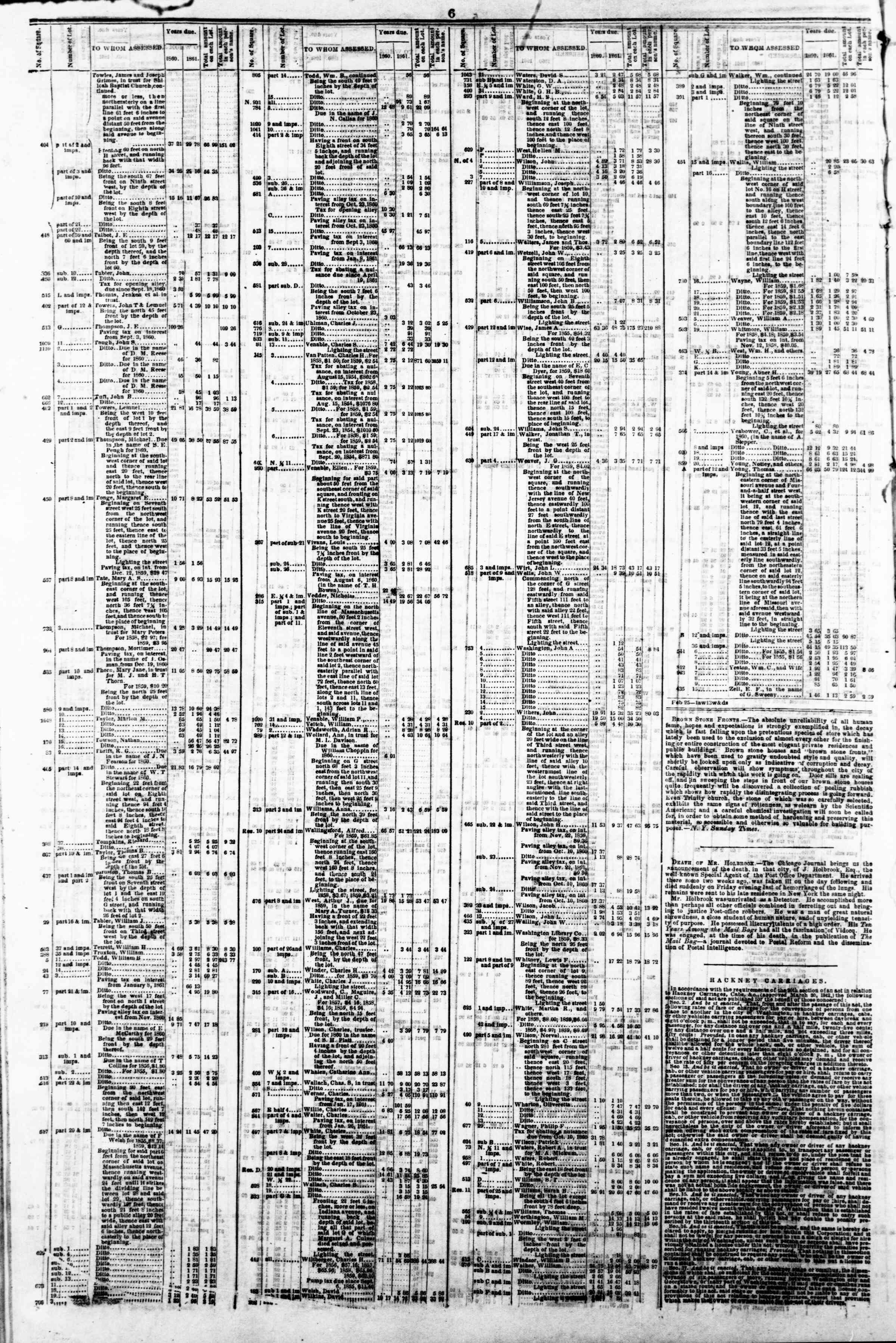 Newspaper of Evening Star dated April 22, 1862 Page 10