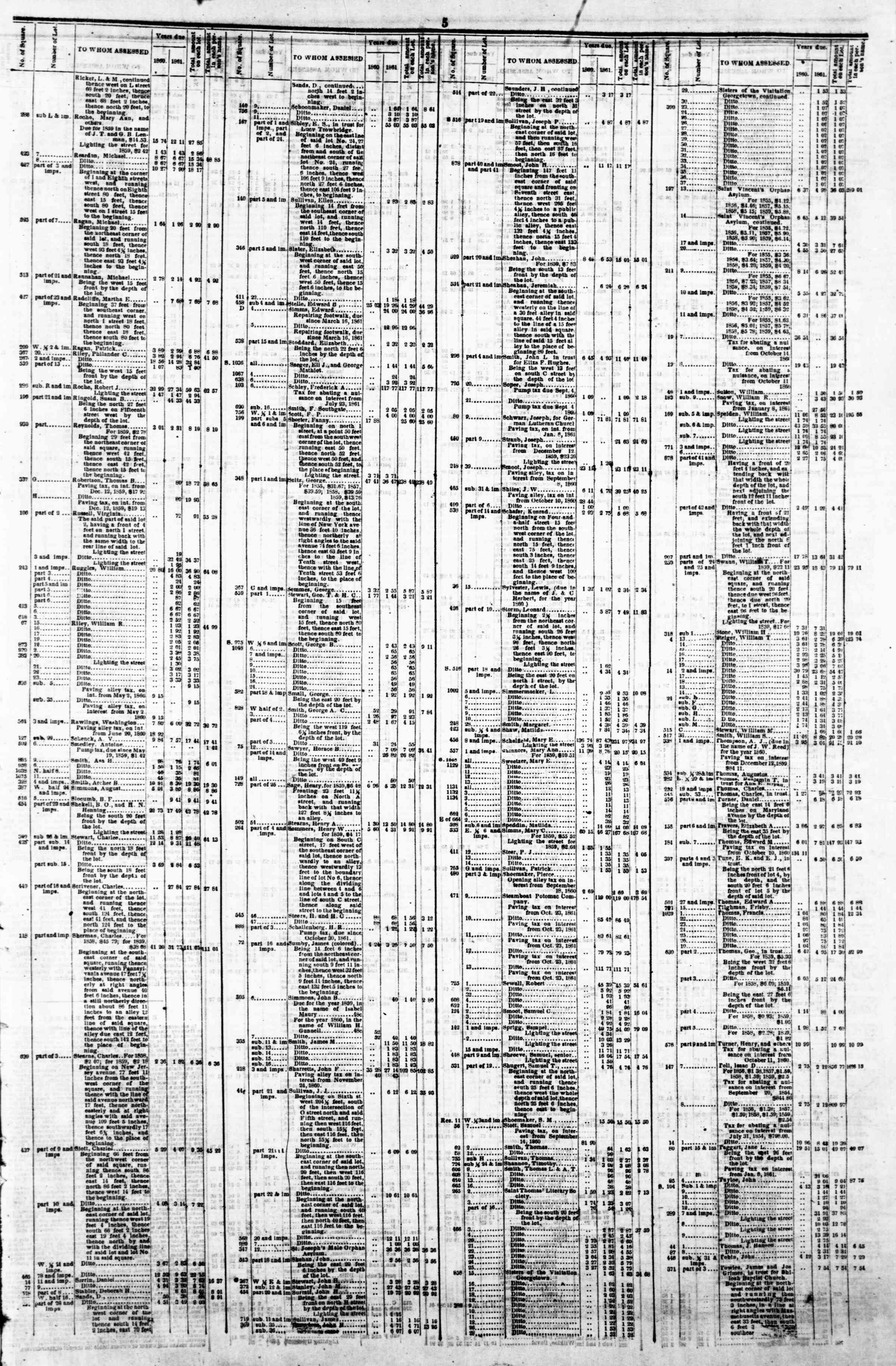 April 29, 1862 tarihli Evening Star Gazetesi Sayfa 9