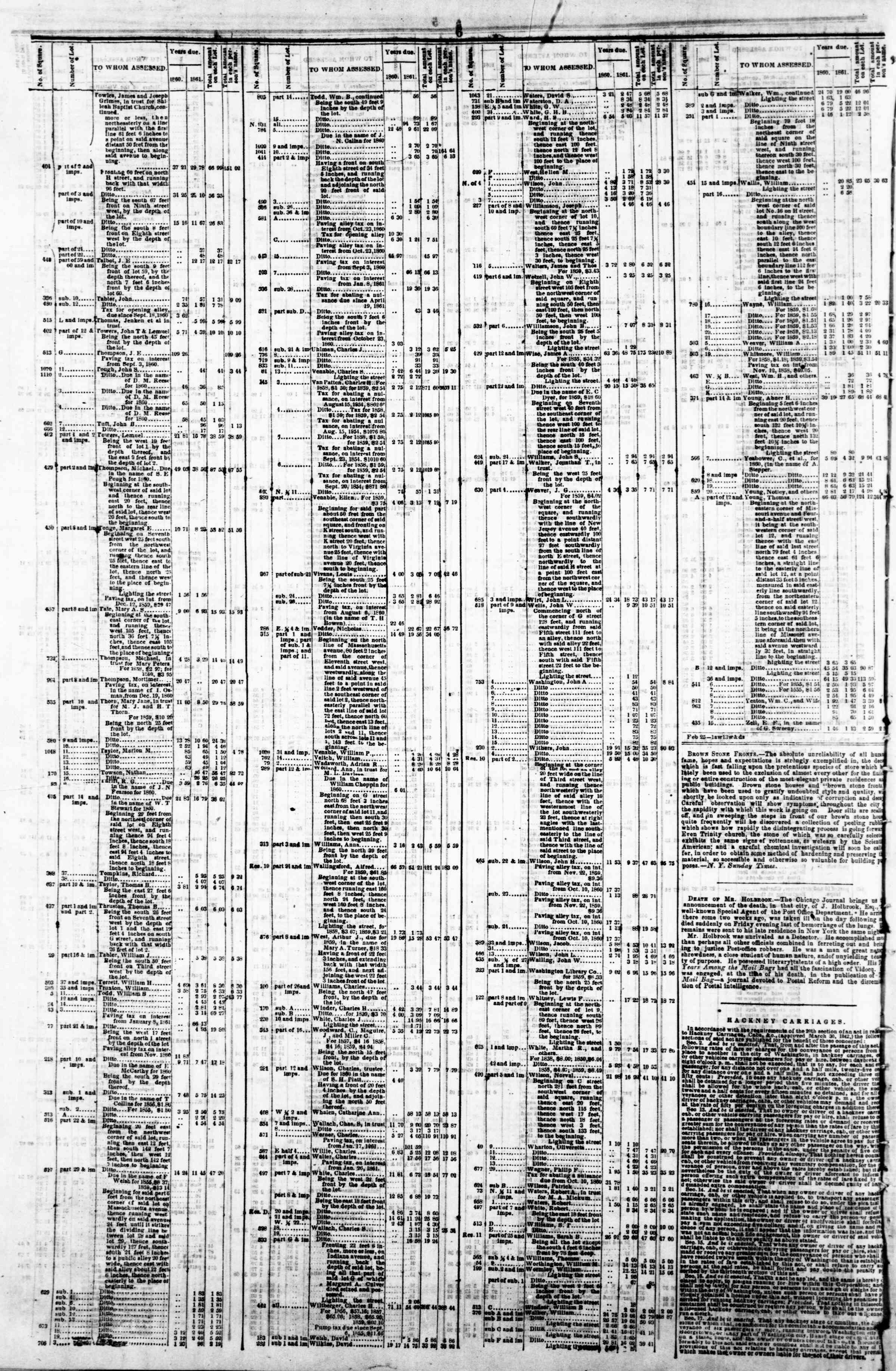 Newspaper of Evening Star dated April 29, 1862 Page 10