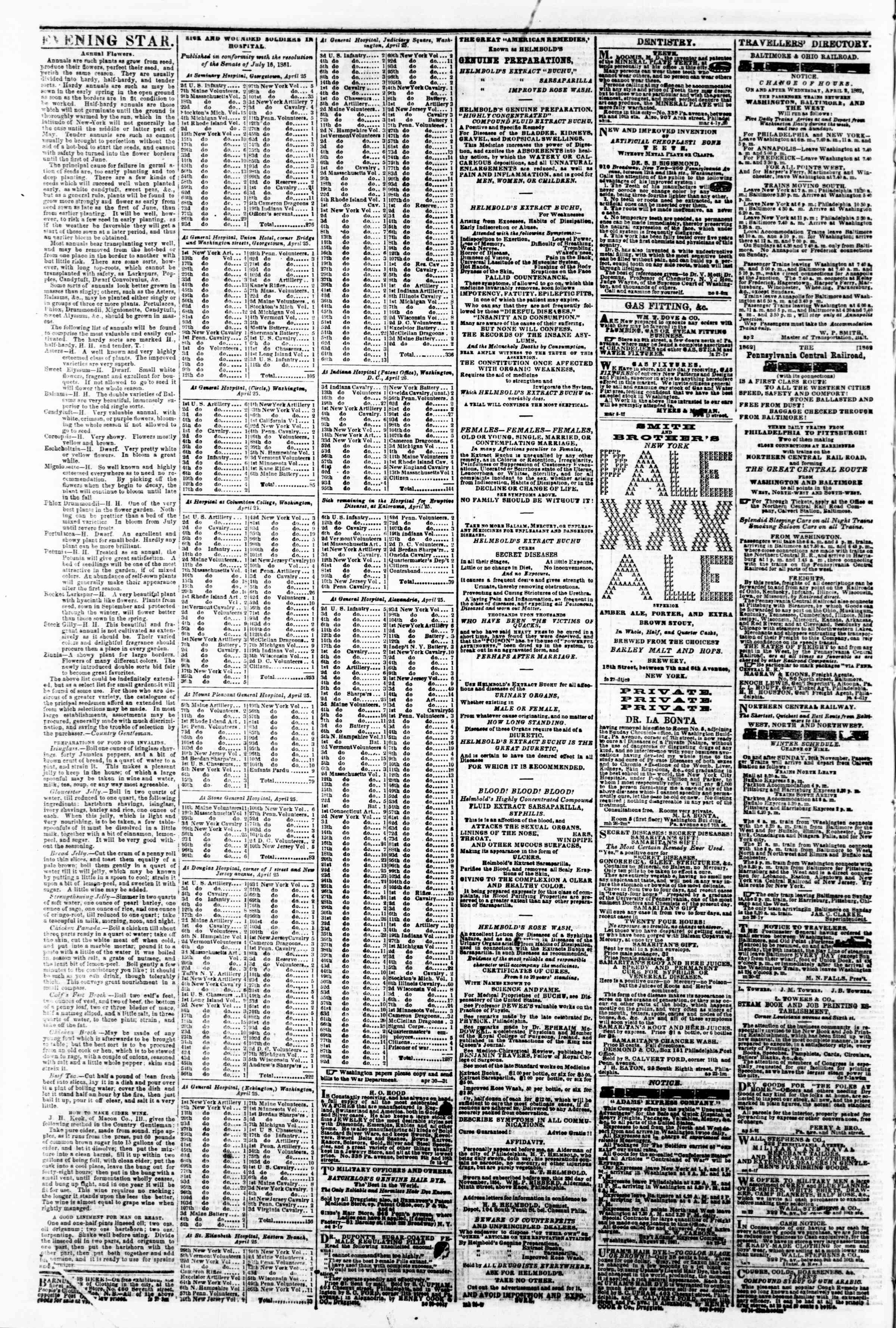 Newspaper of Evening Star dated May 2, 1862 Page 4