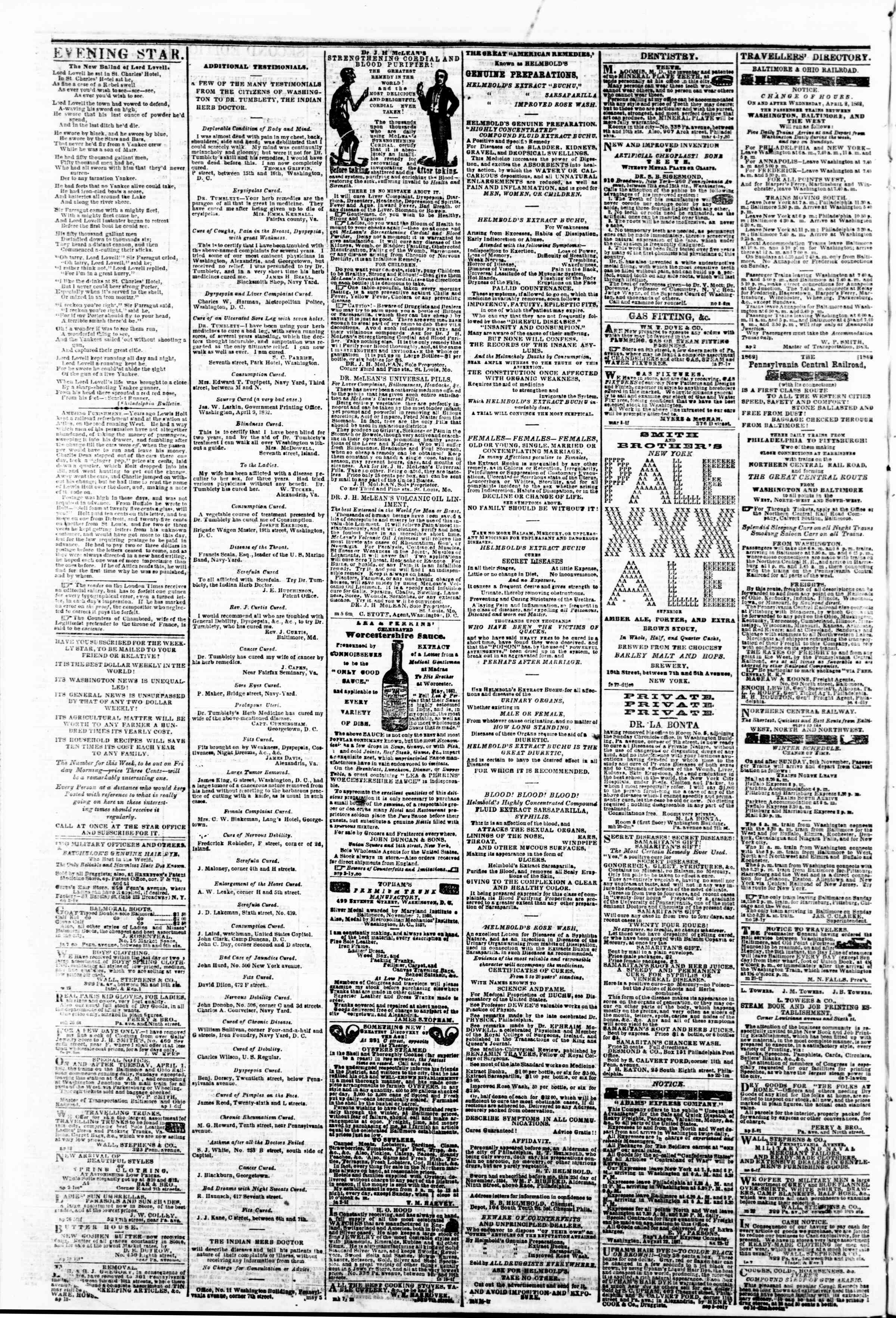 Newspaper of Evening Star dated May 7, 1862 Page 4