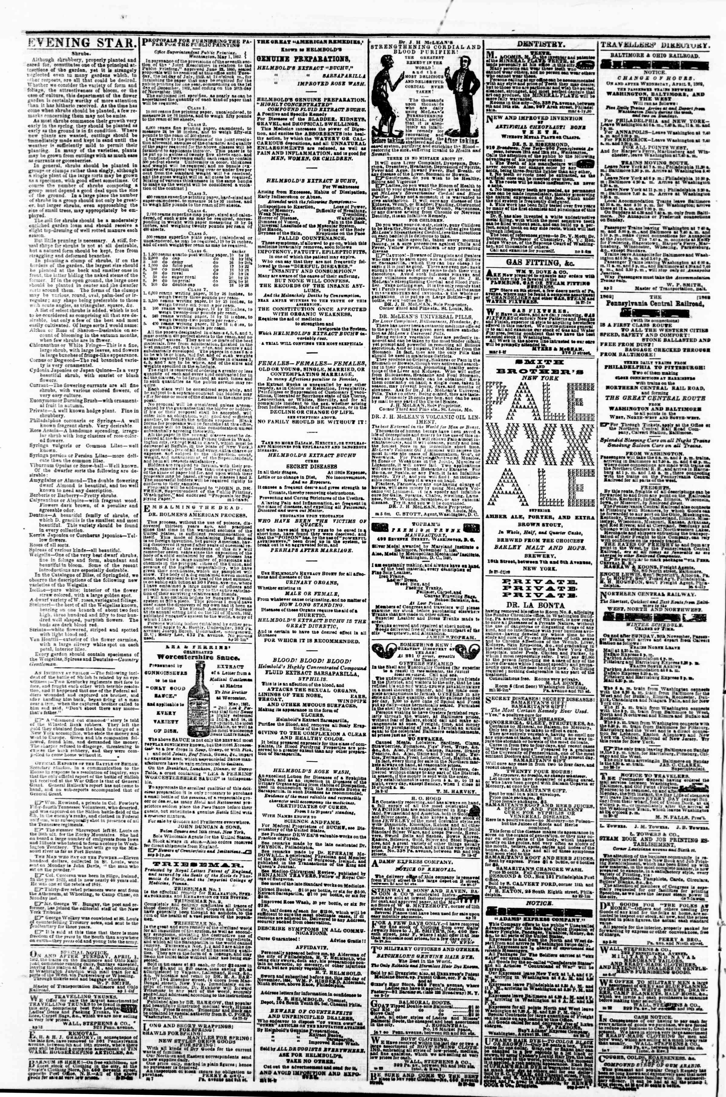 Newspaper of Evening Star dated May 10, 1862 Page 4