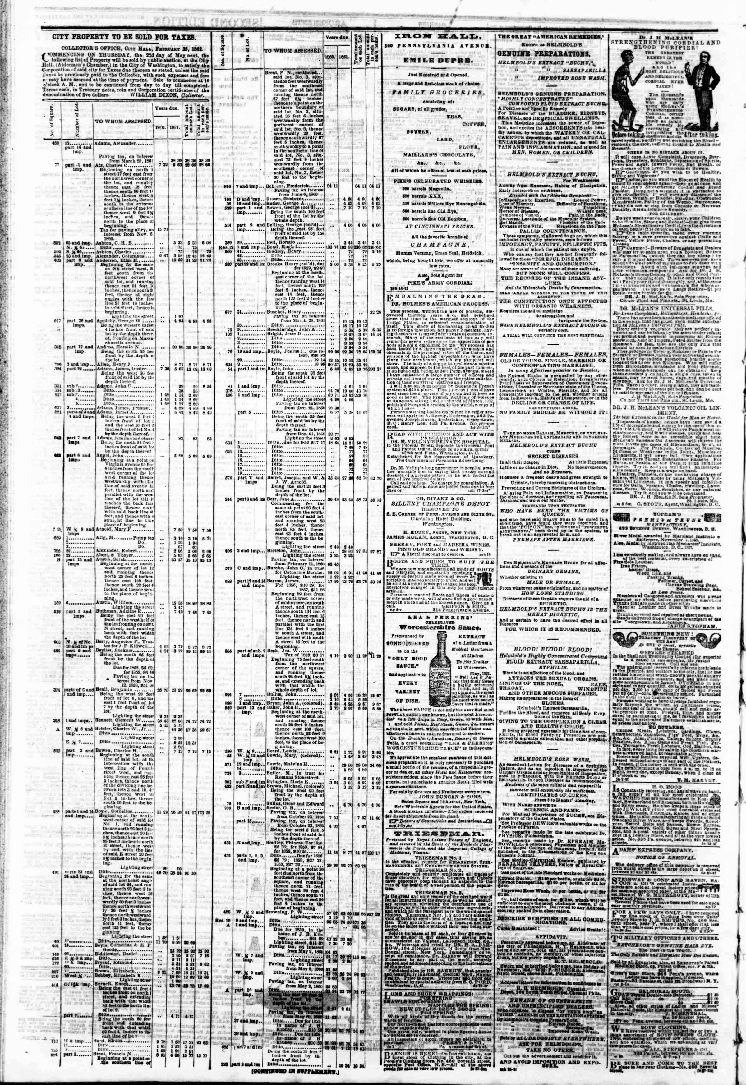 Newspaper of Evening Star dated May 13, 1862 Page 14