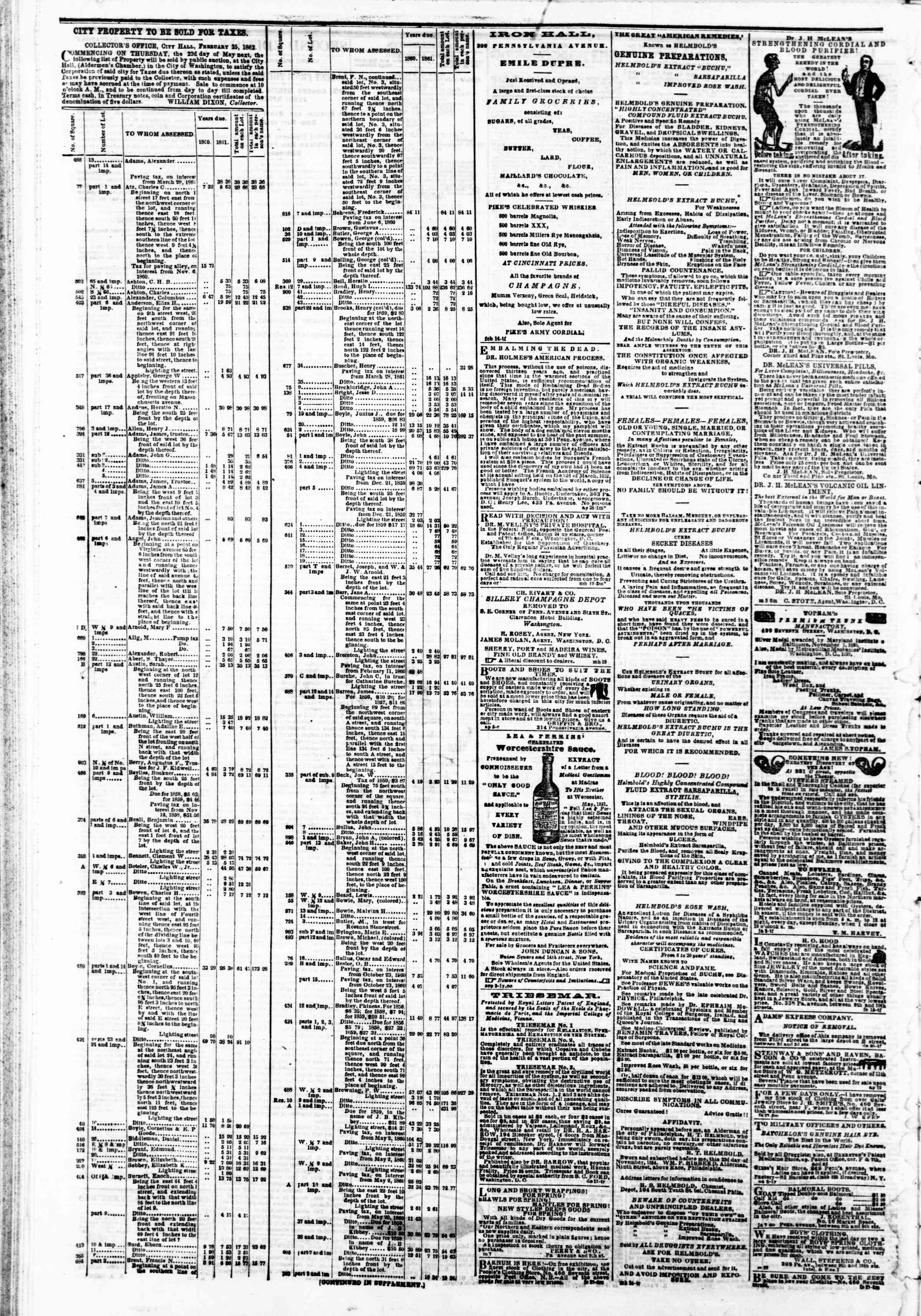 Newspaper of Evening Star dated May 13, 1862 Page 4