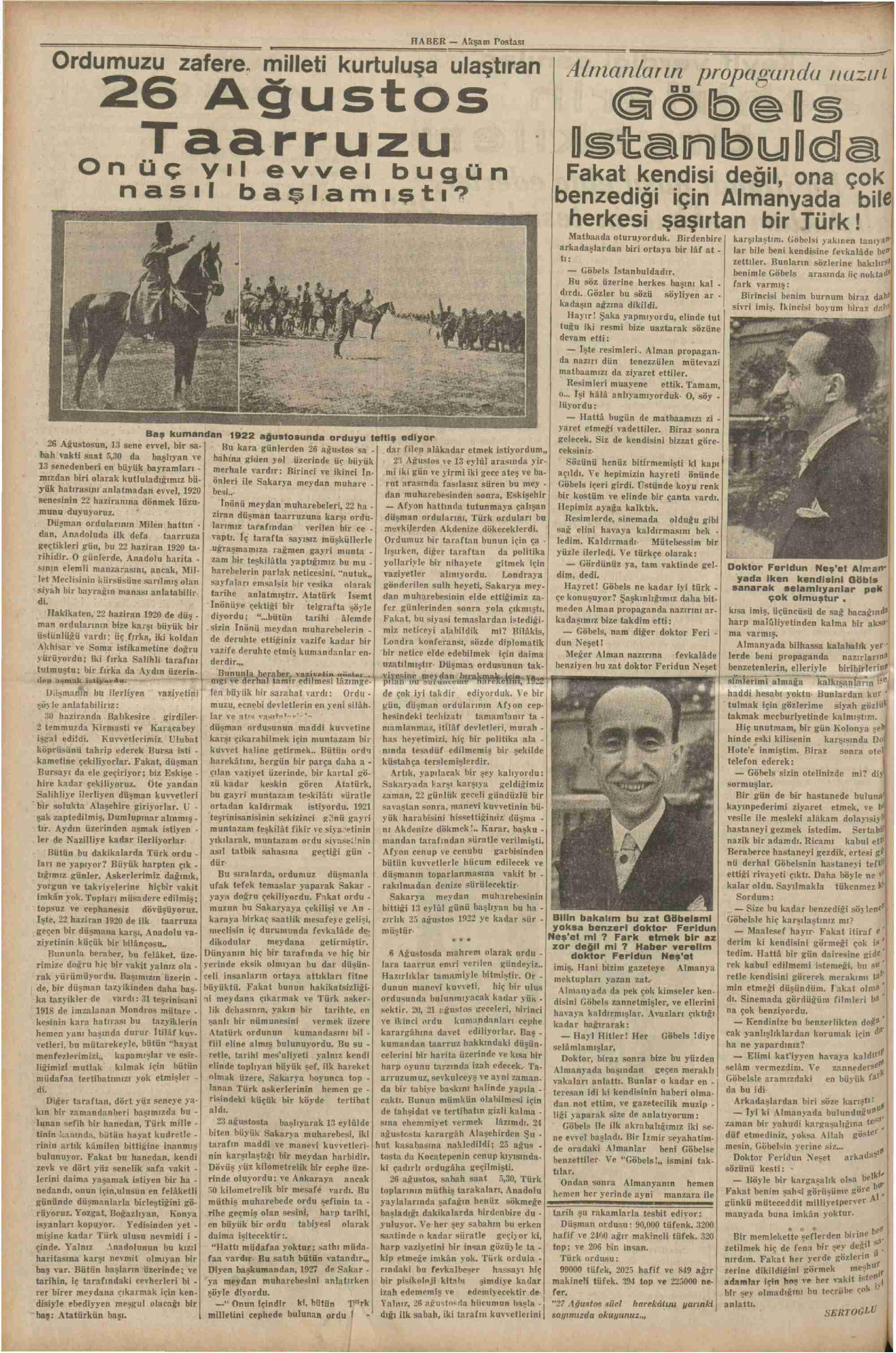 26 Ağustos 1935 Tarihli Haber Dergisi Sayfa 8