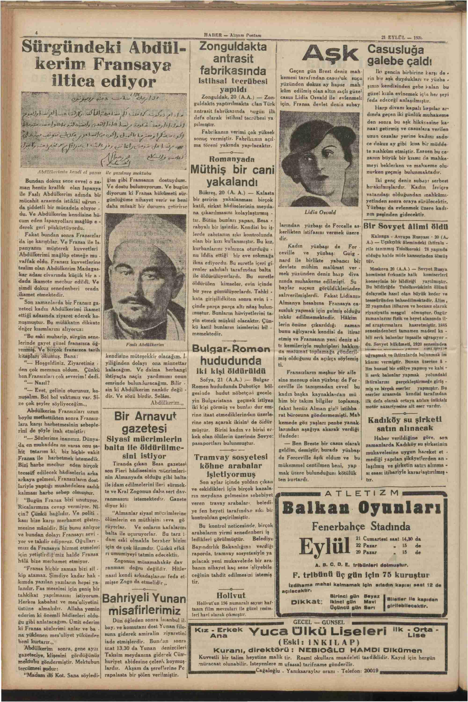 21 Eylül 1935 Tarihli Haber Dergisi Sayfa 4