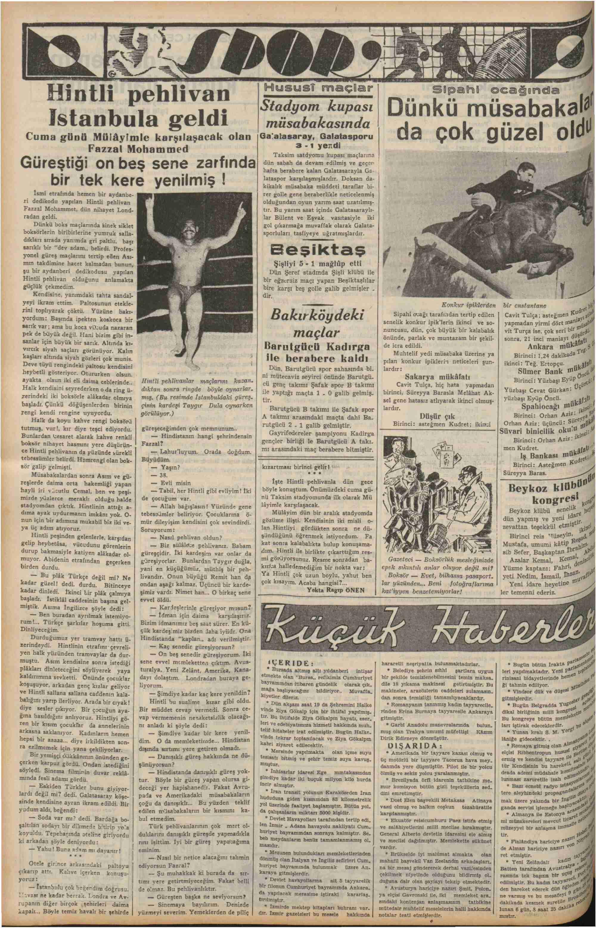 25 Ekim 1937 Tarihli Haber Dergisi Sayfa 6
