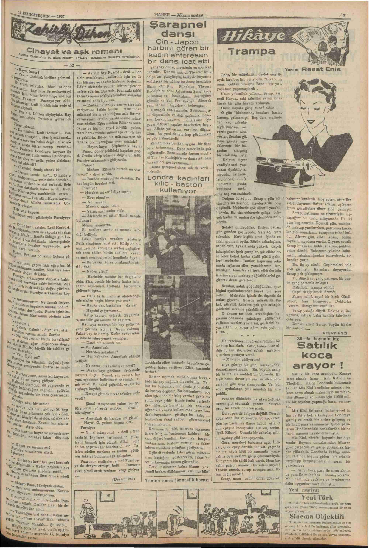11 Kasım 1937 Tarihli Haber Gazetesi Sayfa 5