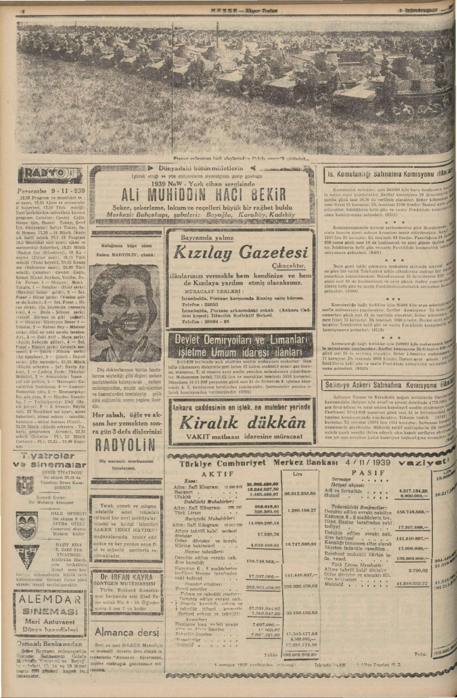 9 Kasım 1939 Tarihli Haber Dergisi Sayfa 6