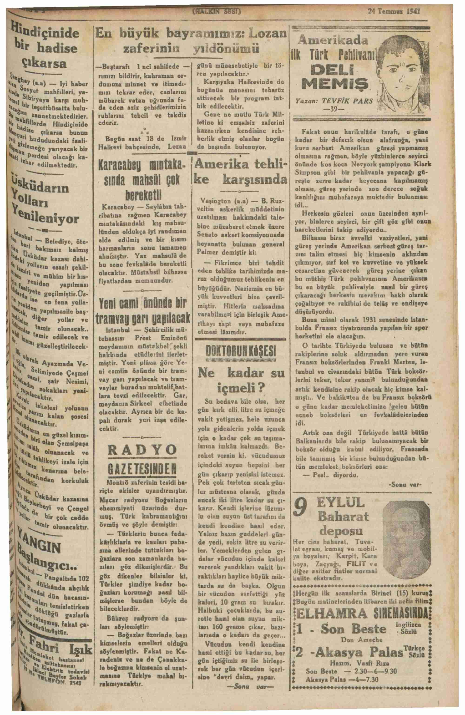 24 Temmuz 1941 Tarihli Halkın Sesi Gazetesi Sayfa 3