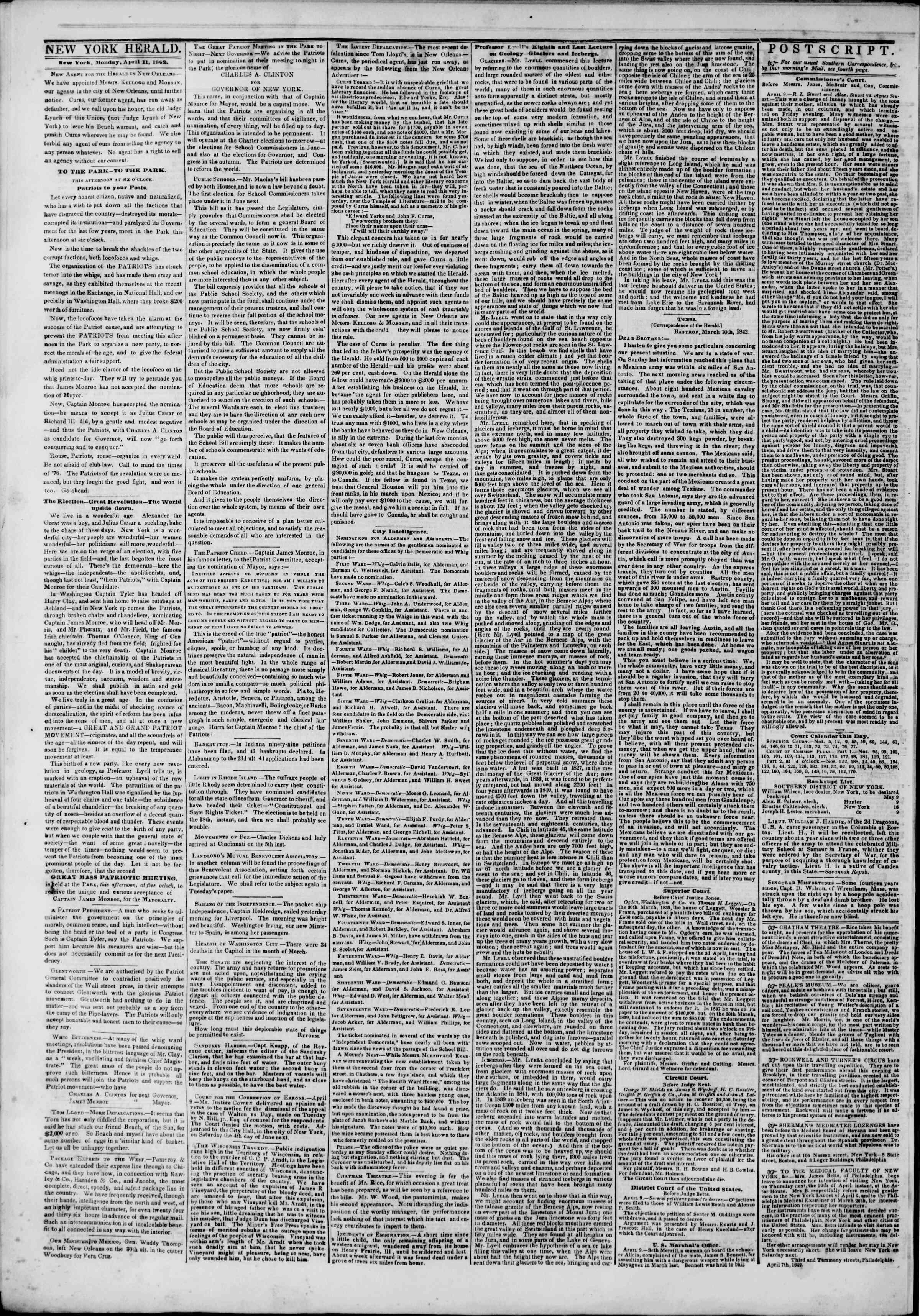 April 11, 1842 Tarihli The New York Herald Gazetesi Sayfa 2