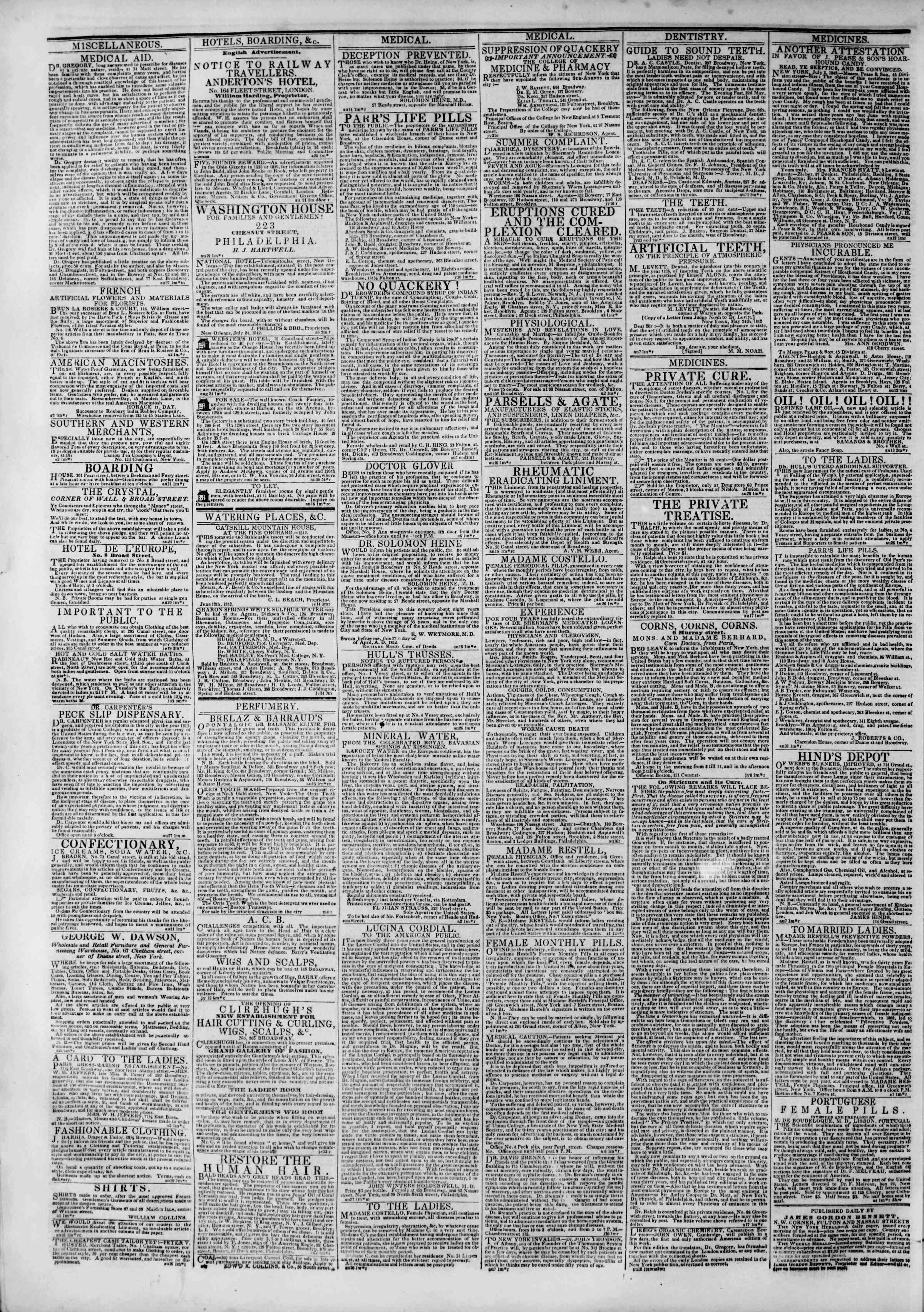 September 6, 1842 Tarihli The New York Herald Gazetesi Sayfa 2