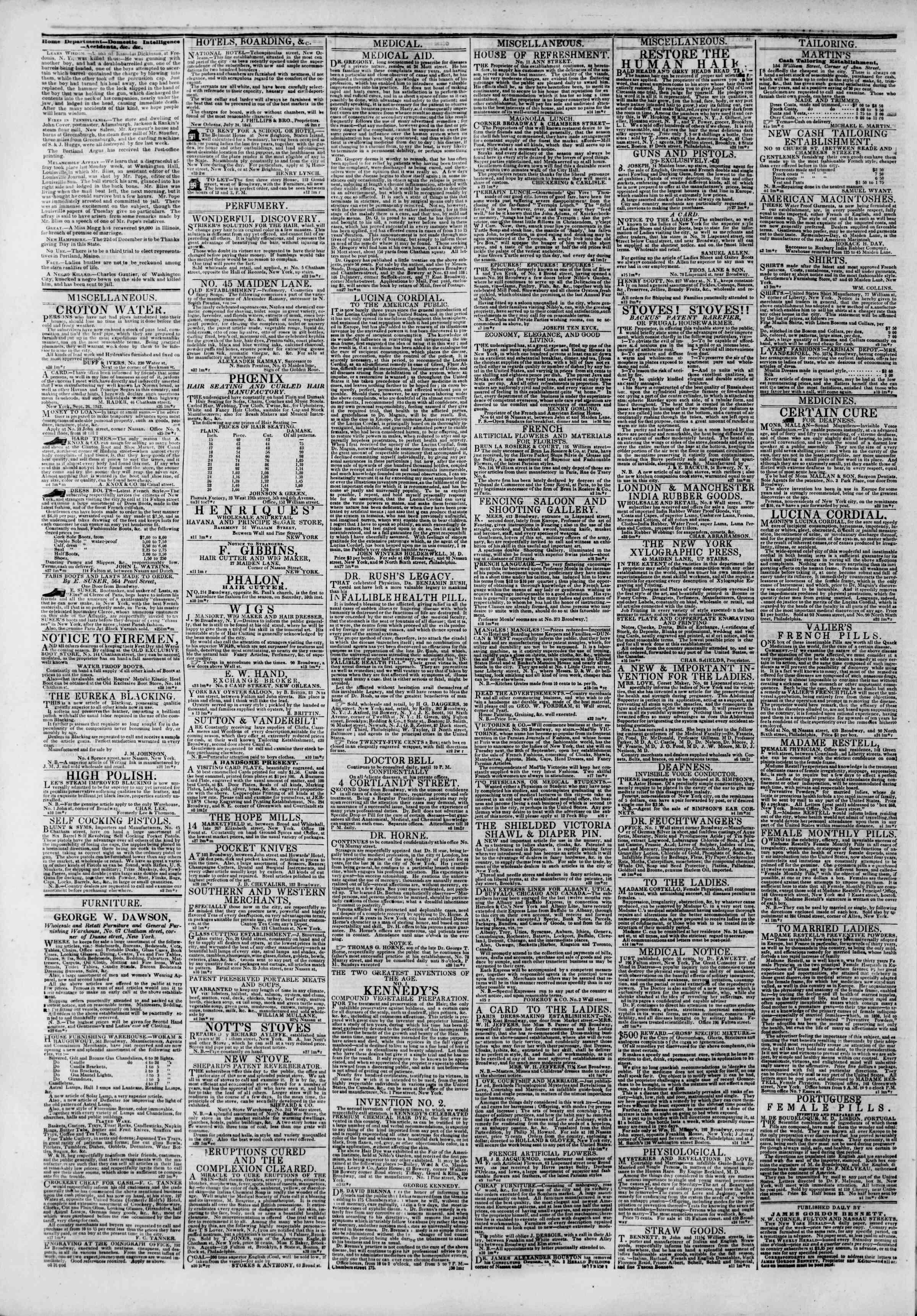 October 5, 1842 Tarihli The New York Herald Gazetesi Sayfa 4