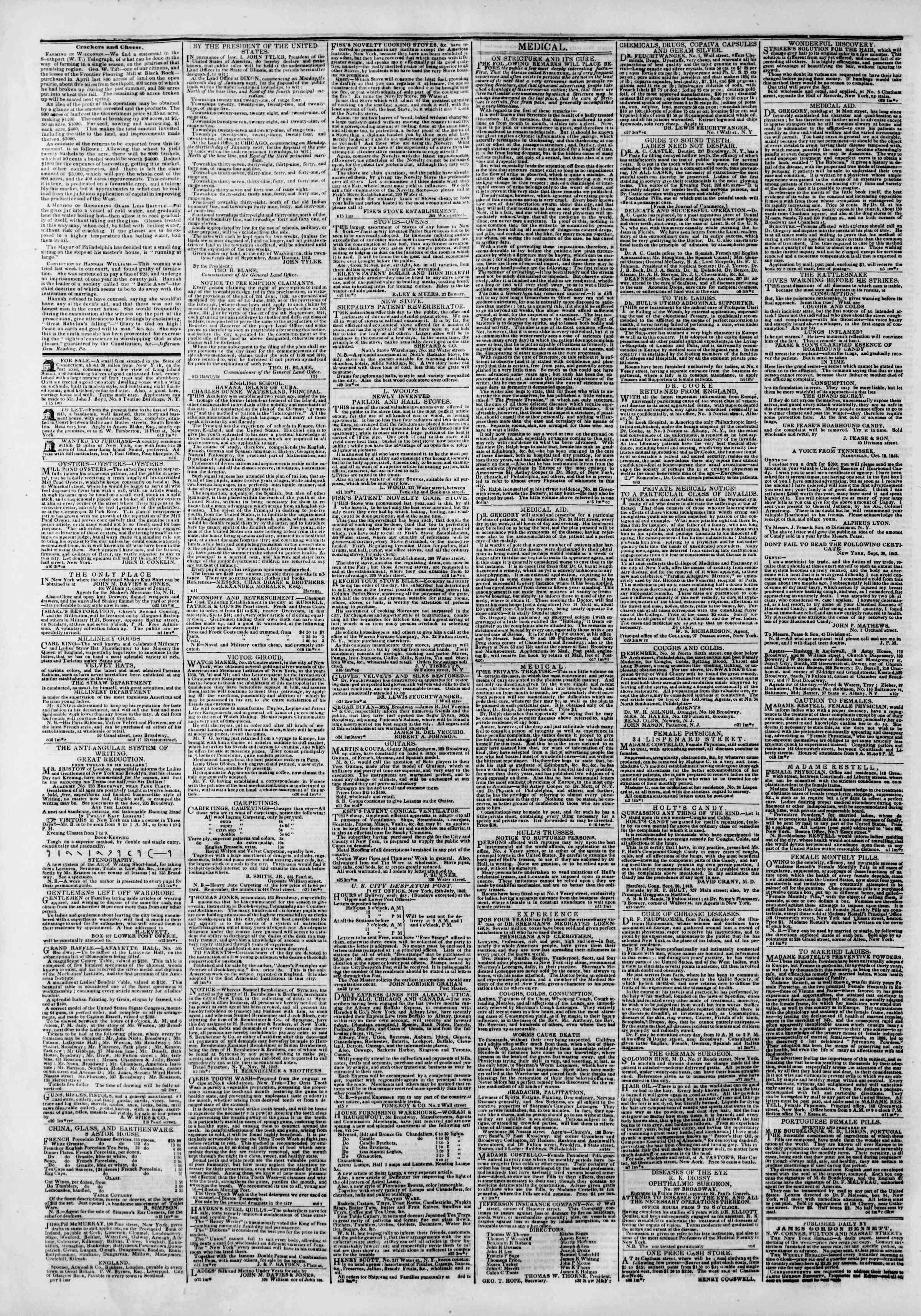 November 18, 1842 Tarihli The New York Herald Gazetesi Sayfa 4