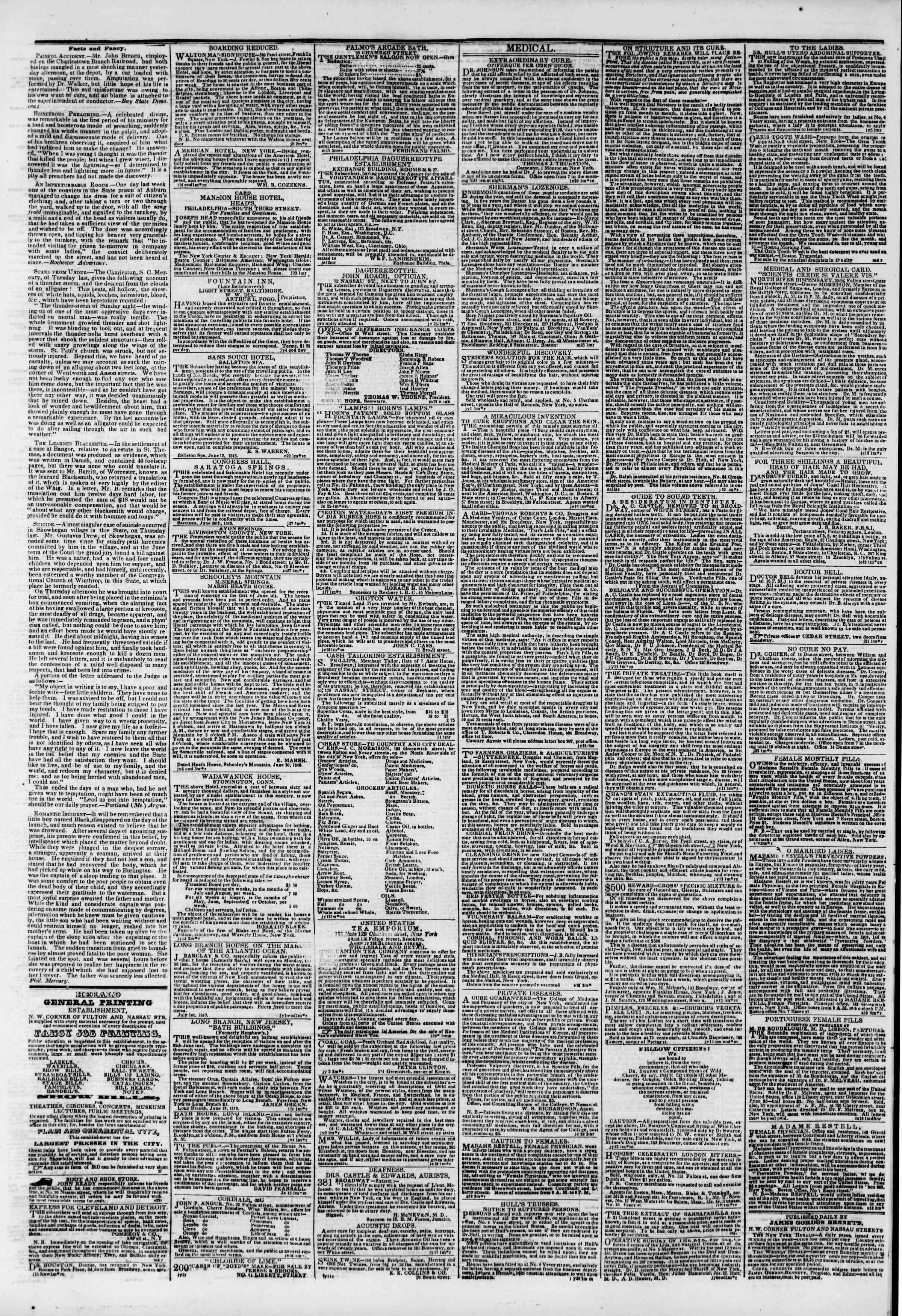 July 17, 1843 Tarihli The New York Herald Gazetesi Sayfa 4
