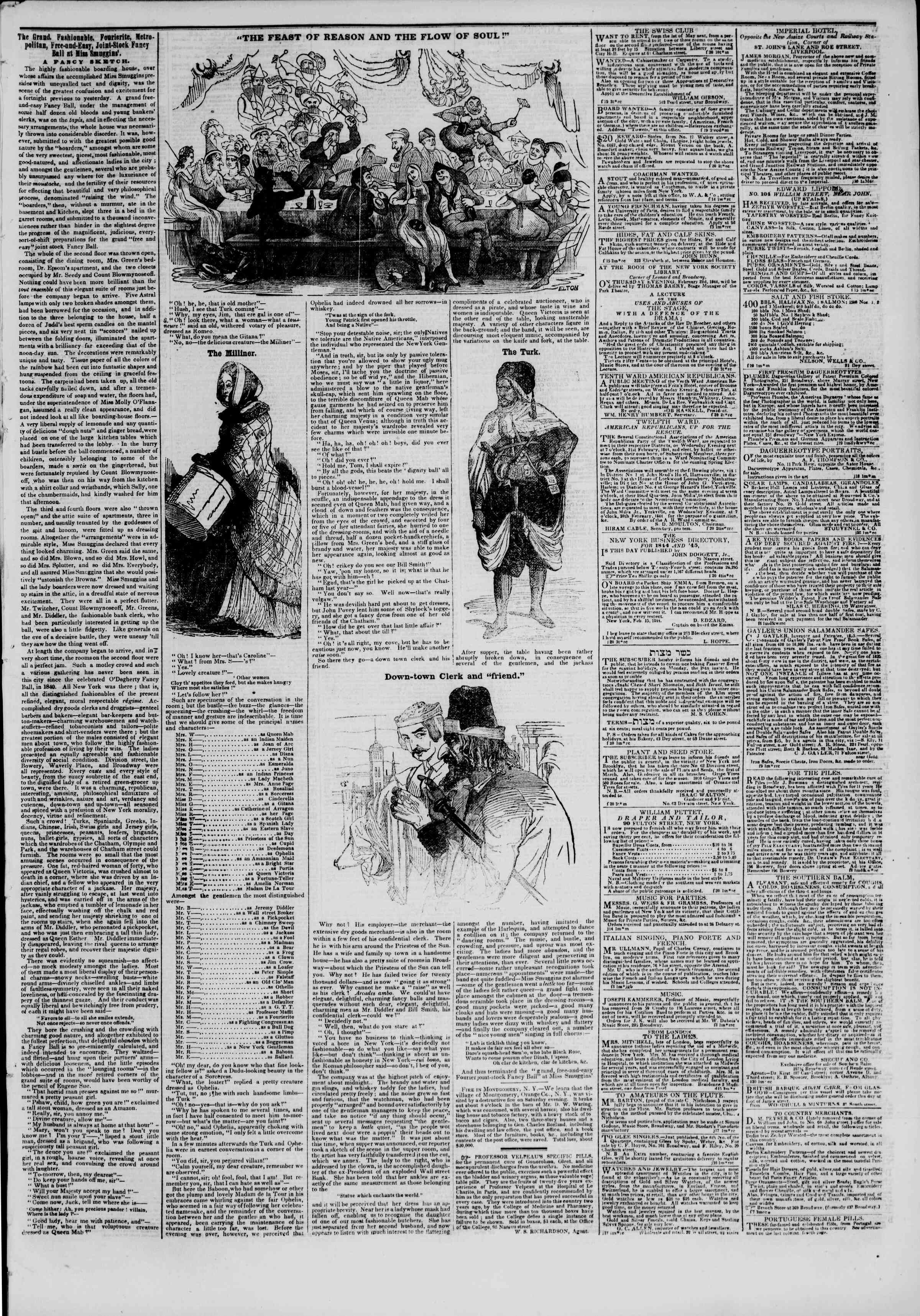 February 21, 1844 Tarihli The New York Herald Gazetesi Sayfa 3