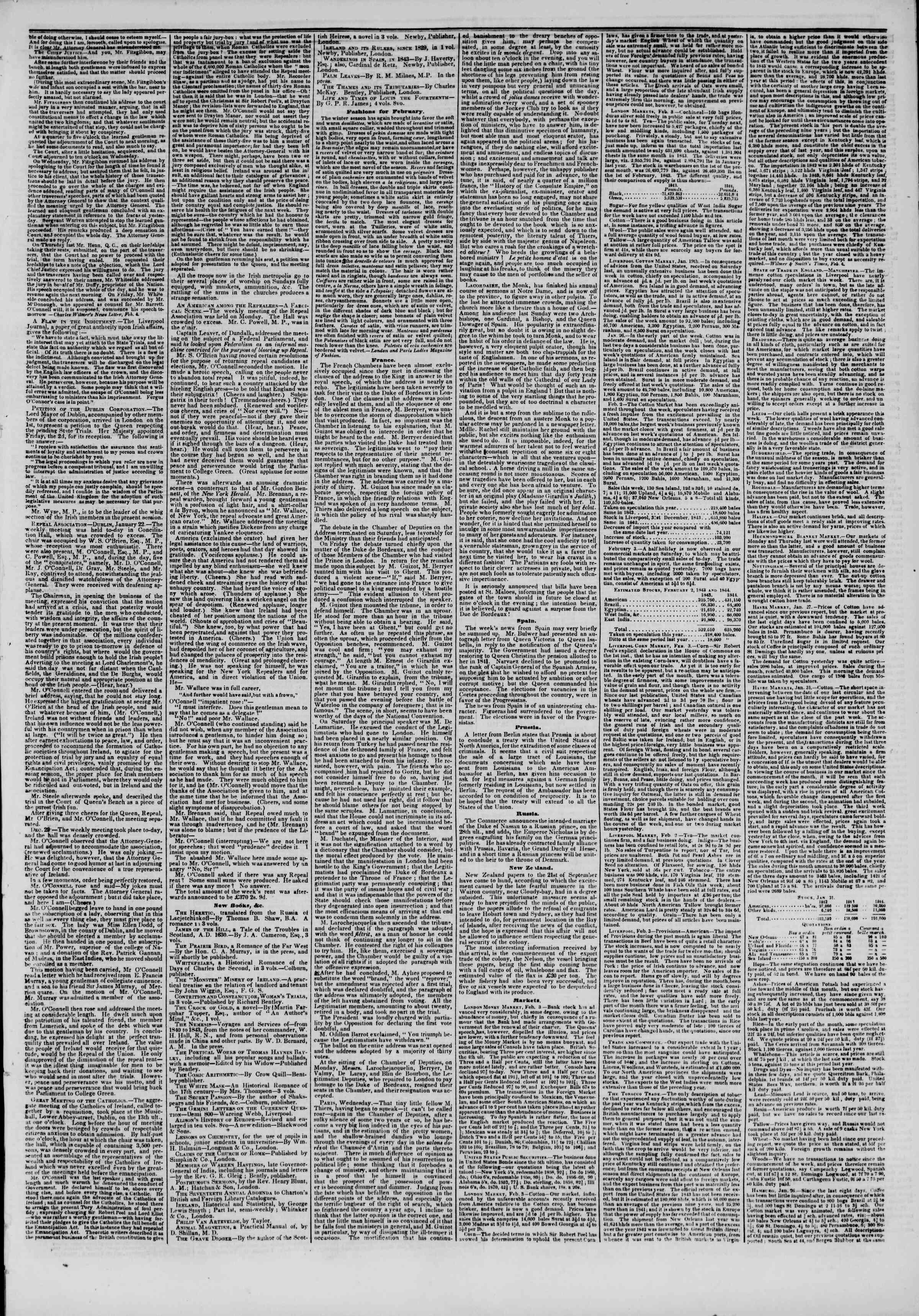 21 Şubat 1844 Tarihli The New York Herald Gazetesi Sayfa 5