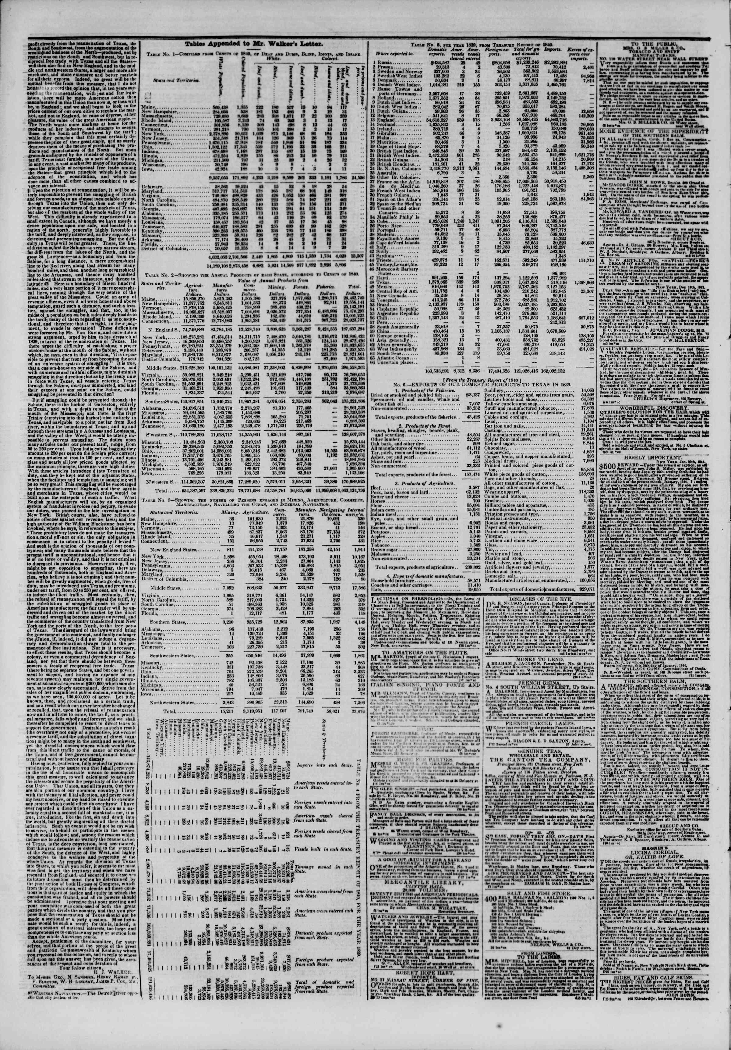 7 Mart 1844 tarihli The New York Herald Gazetesi Sayfa 4