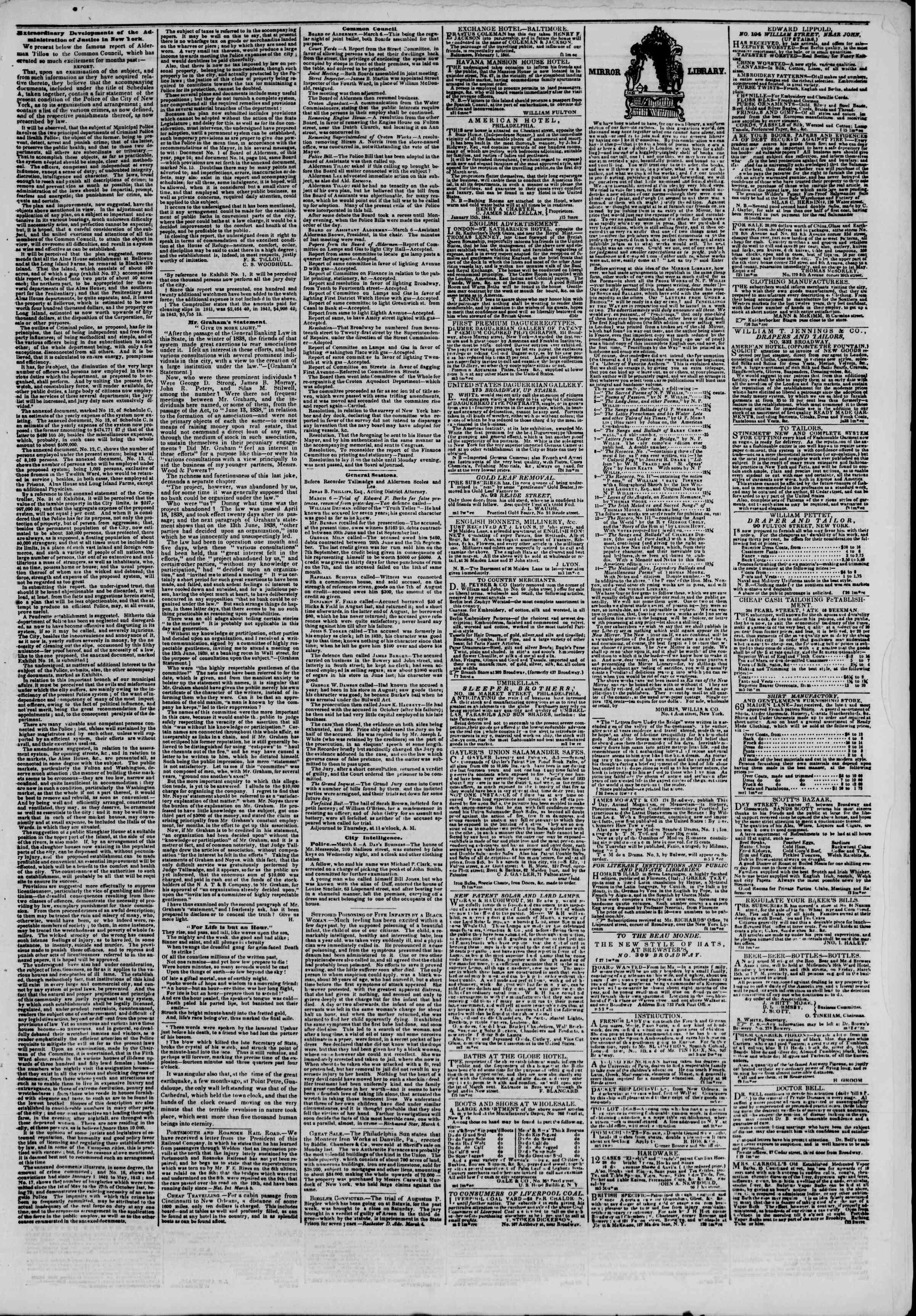 March 7, 1844 Tarihli The New York Herald Gazetesi Sayfa 7
