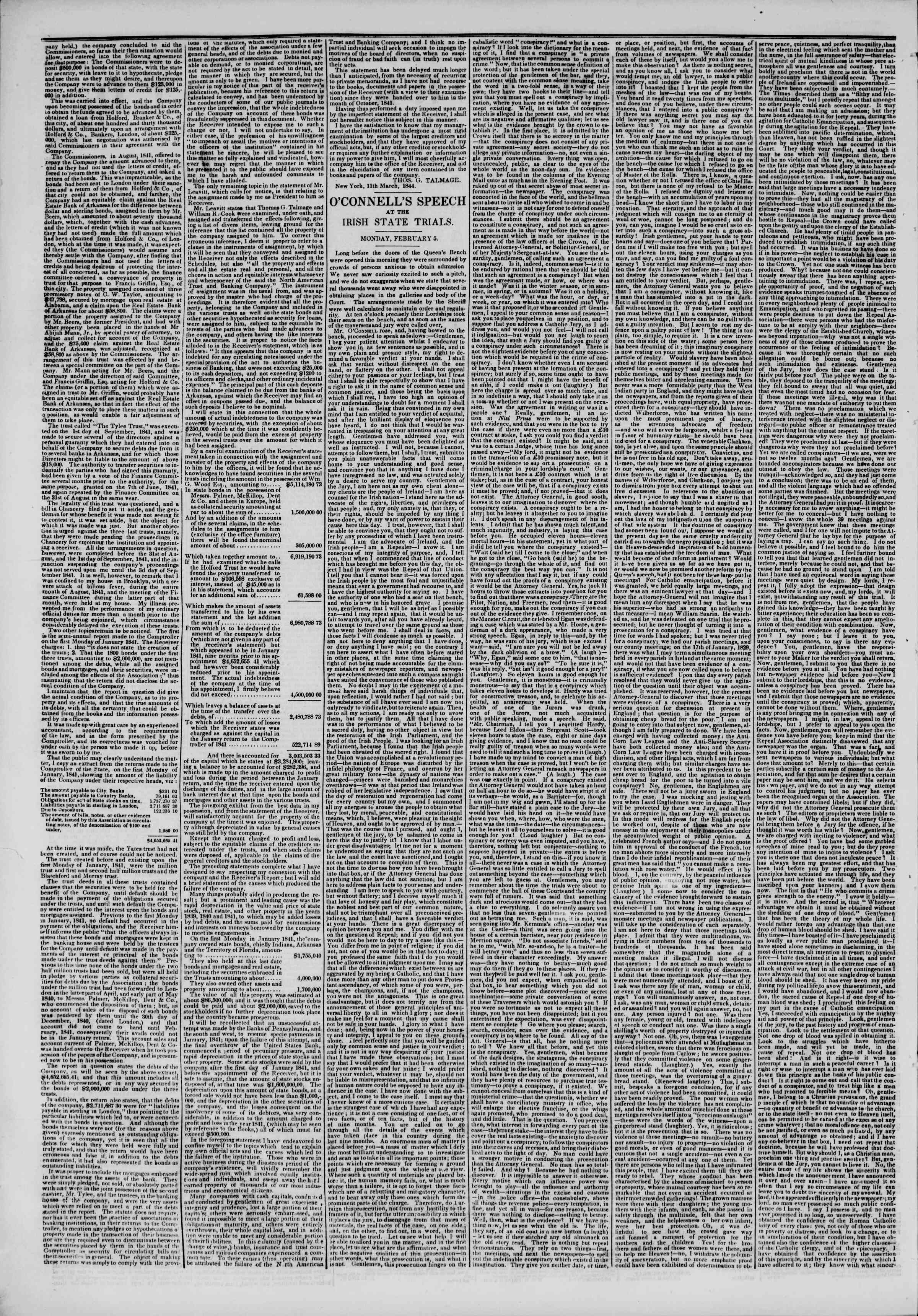 Newspaper of The New York Herald dated March 14, 1844 Page 2