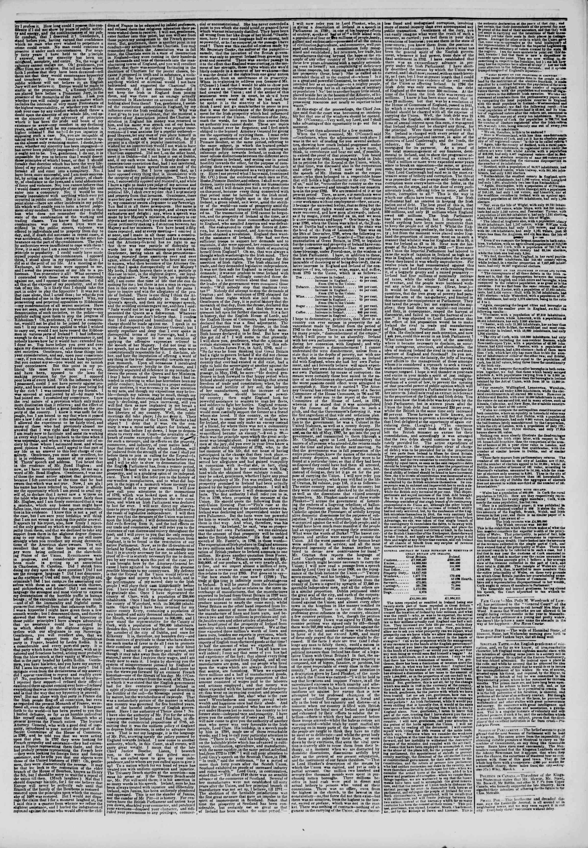 March 14, 1844 Tarihli The New York Herald Gazetesi Sayfa 3
