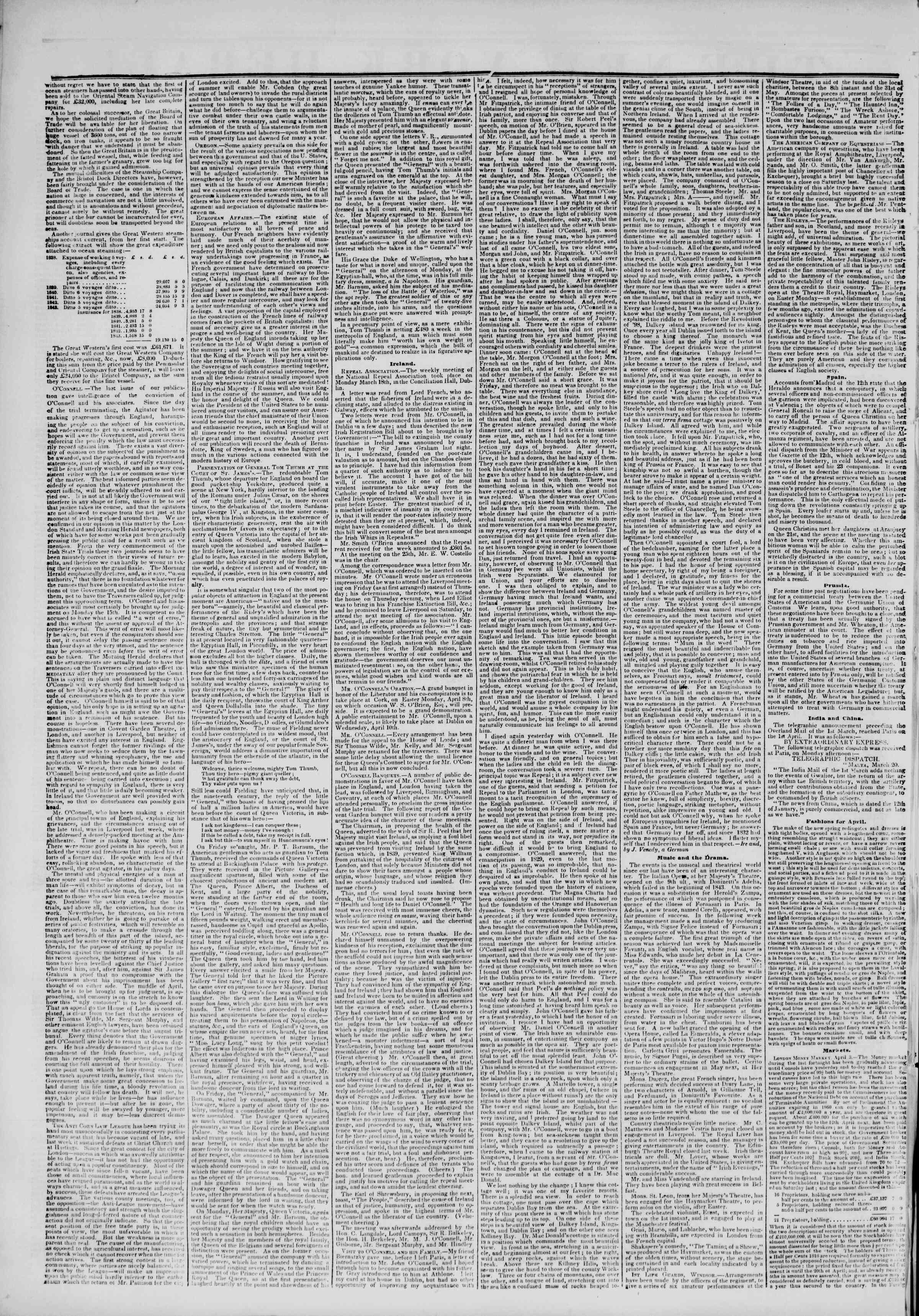 April 23, 1844 Tarihli The New York Herald Gazetesi Sayfa 2