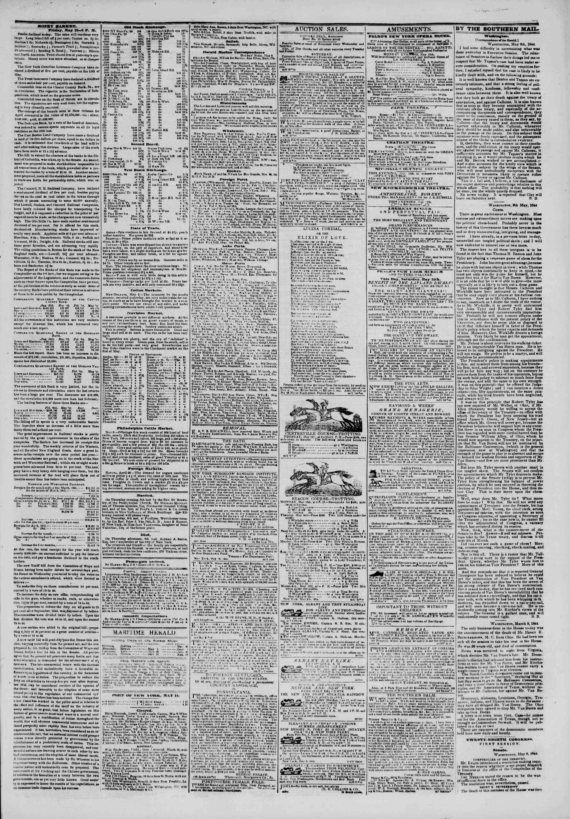 May 11, 1844 Tarihli The New York Herald Gazetesi Sayfa 3