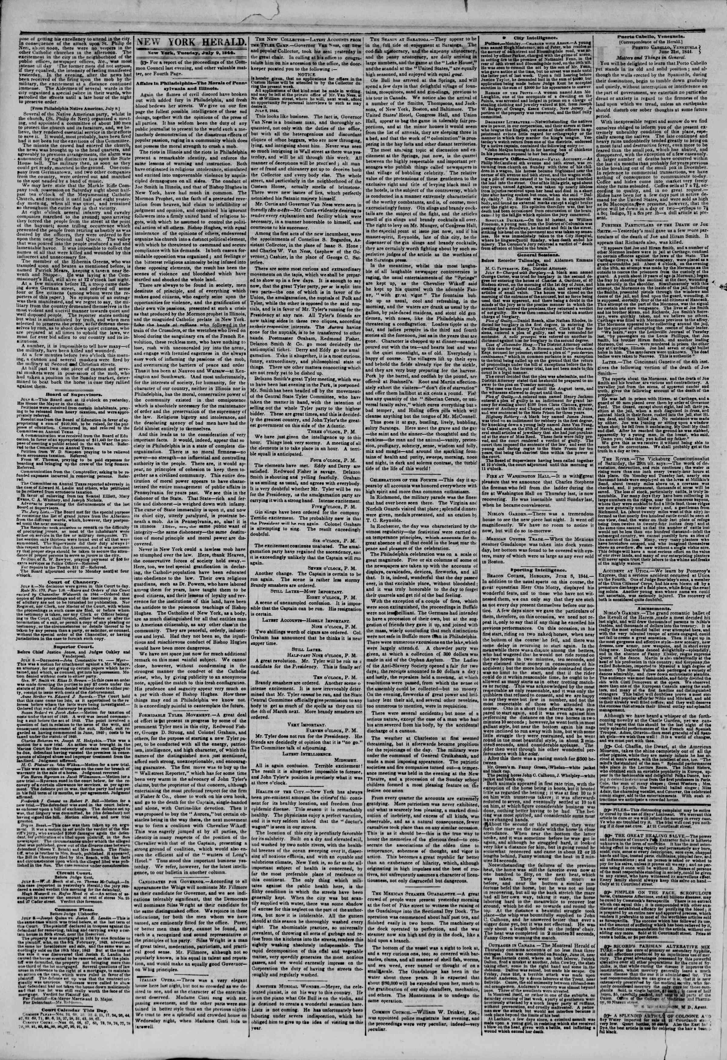 July 9, 1844 Tarihli The New York Herald Gazetesi Sayfa 2