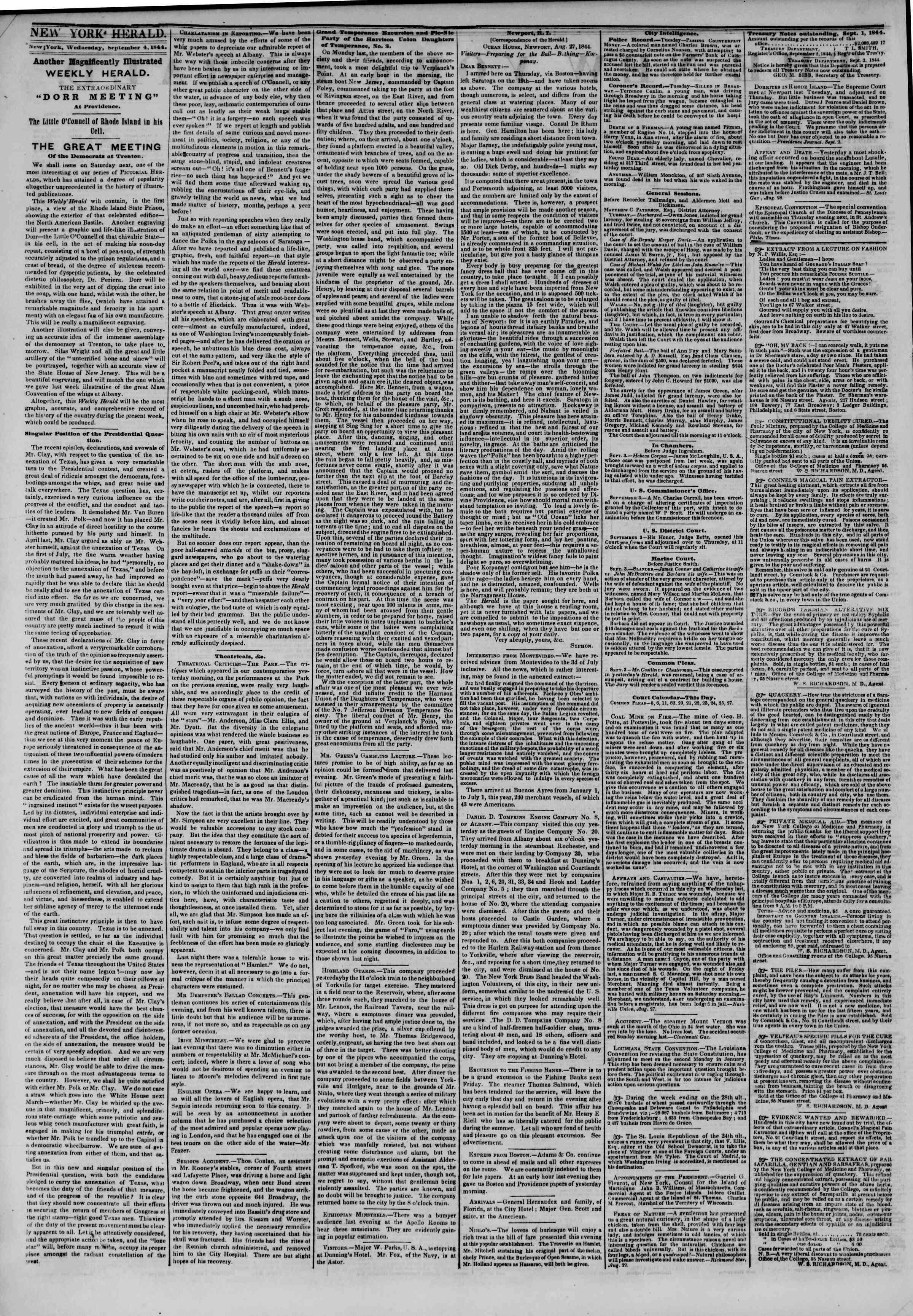 September 4, 1844 Tarihli The New York Herald Gazetesi Sayfa 2
