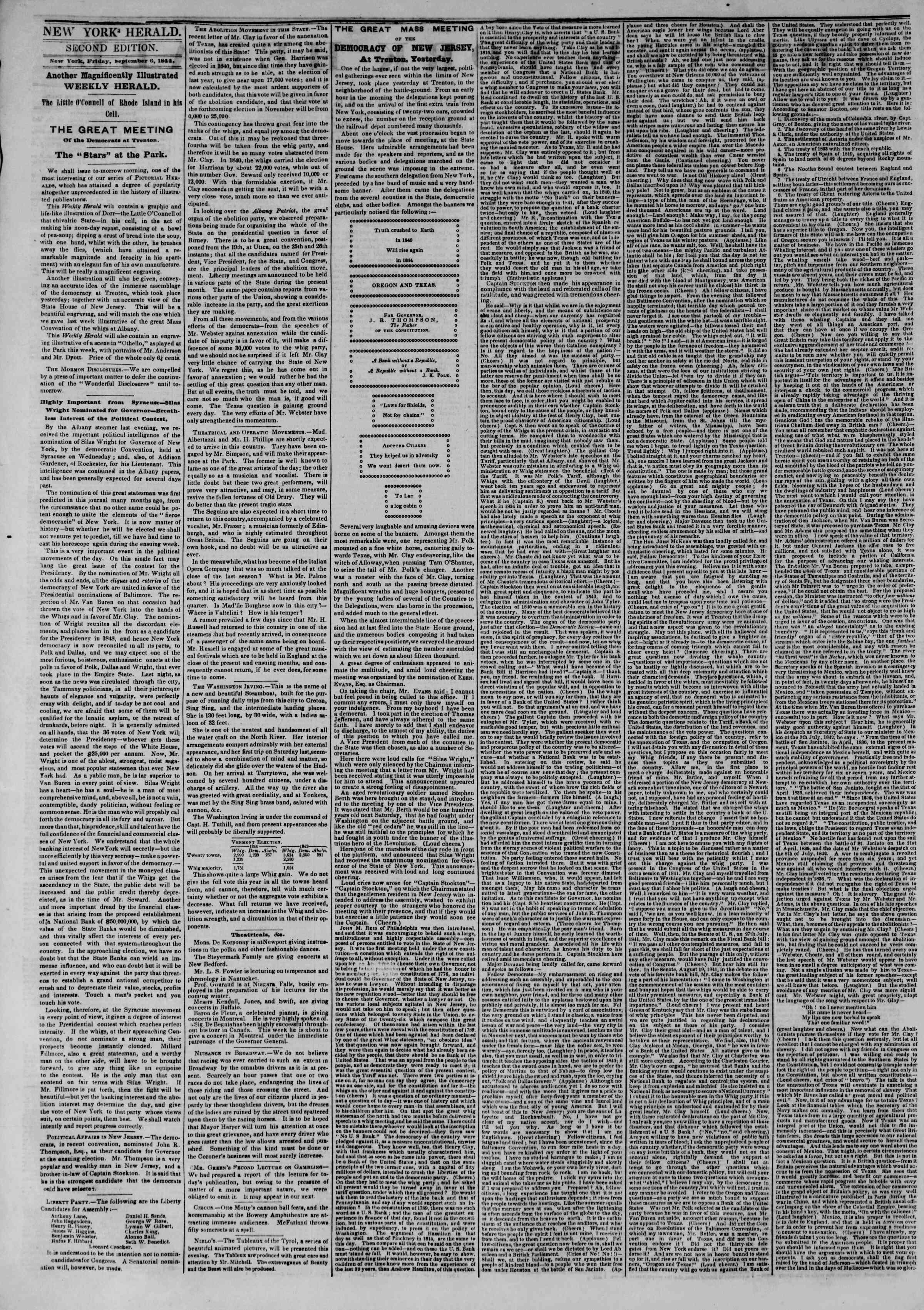 September 6, 1844 Tarihli The New York Herald Gazetesi Sayfa 2