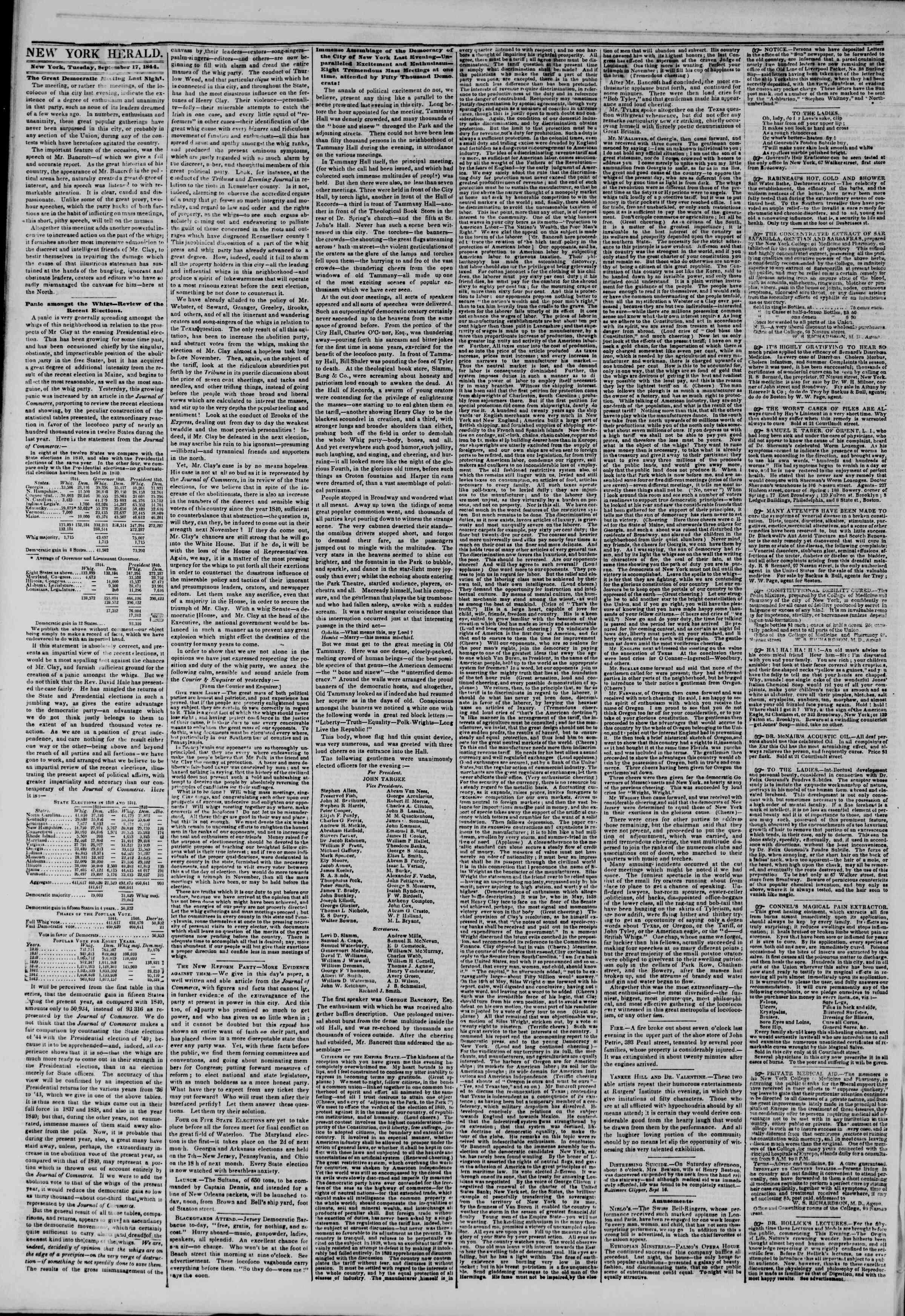 September 17, 1844 Tarihli The New York Herald Gazetesi Sayfa 2
