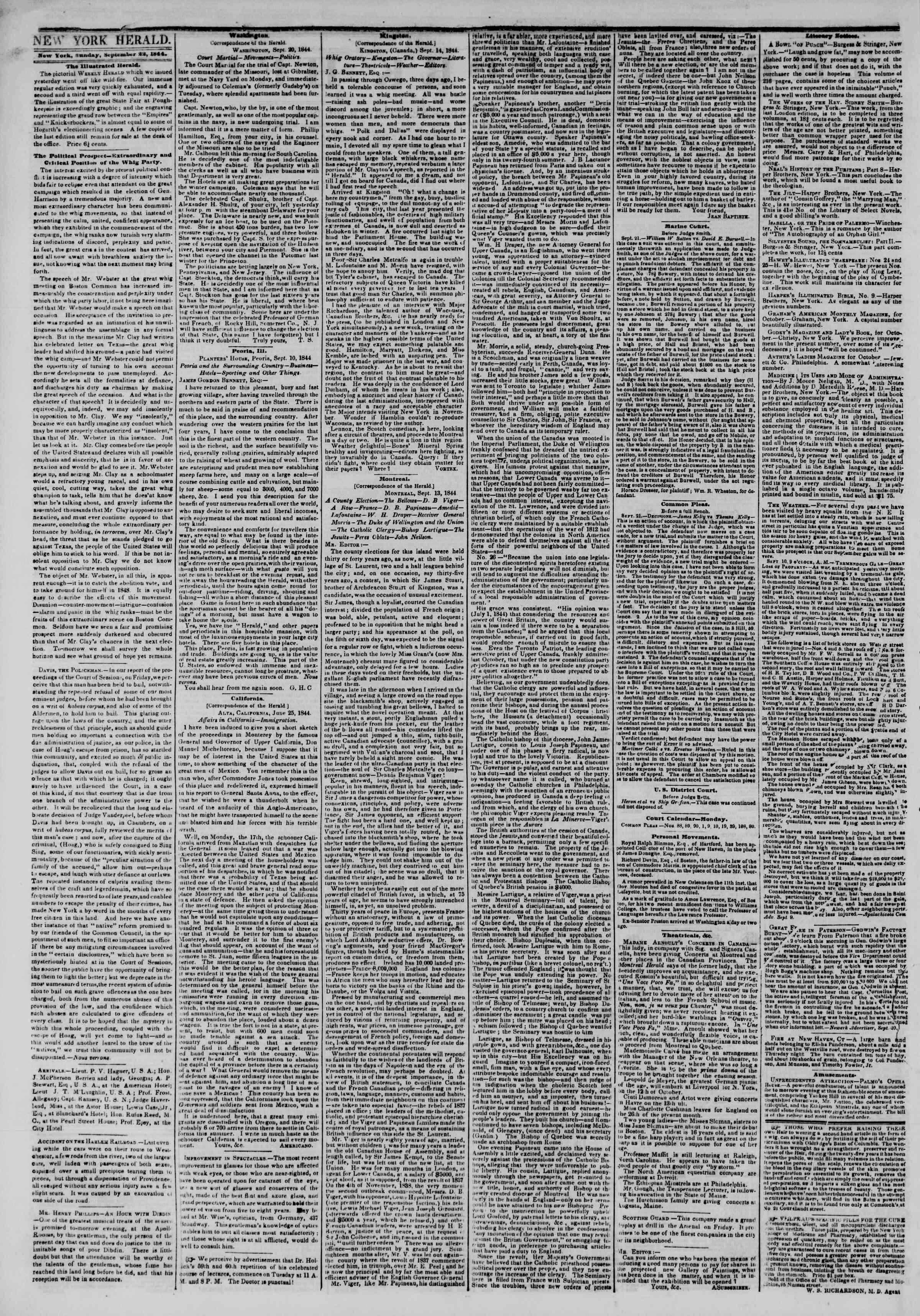 September 22, 1844 Tarihli The New York Herald Gazetesi Sayfa 2