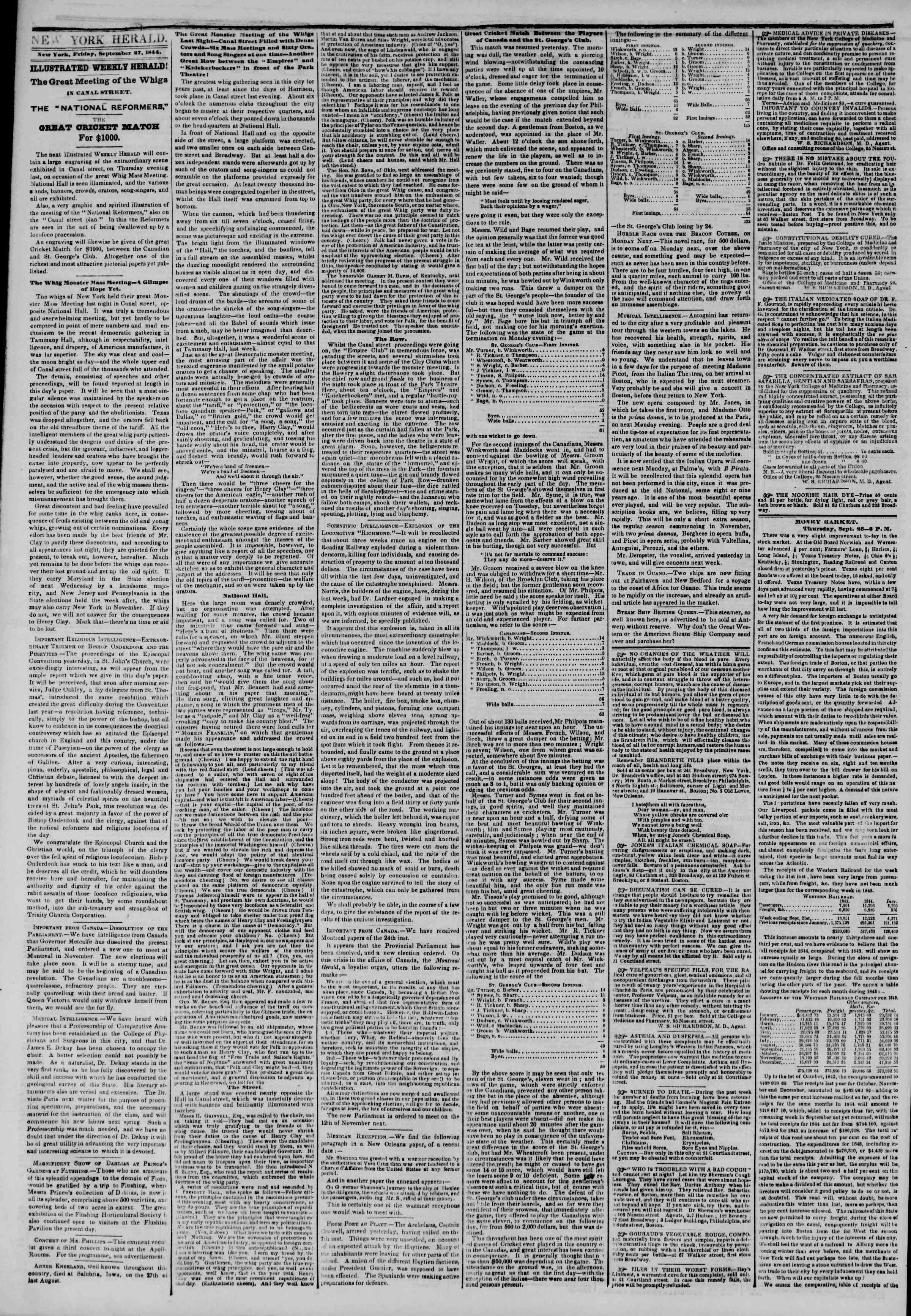 September 27, 1844 Tarihli The New York Herald Gazetesi Sayfa 2