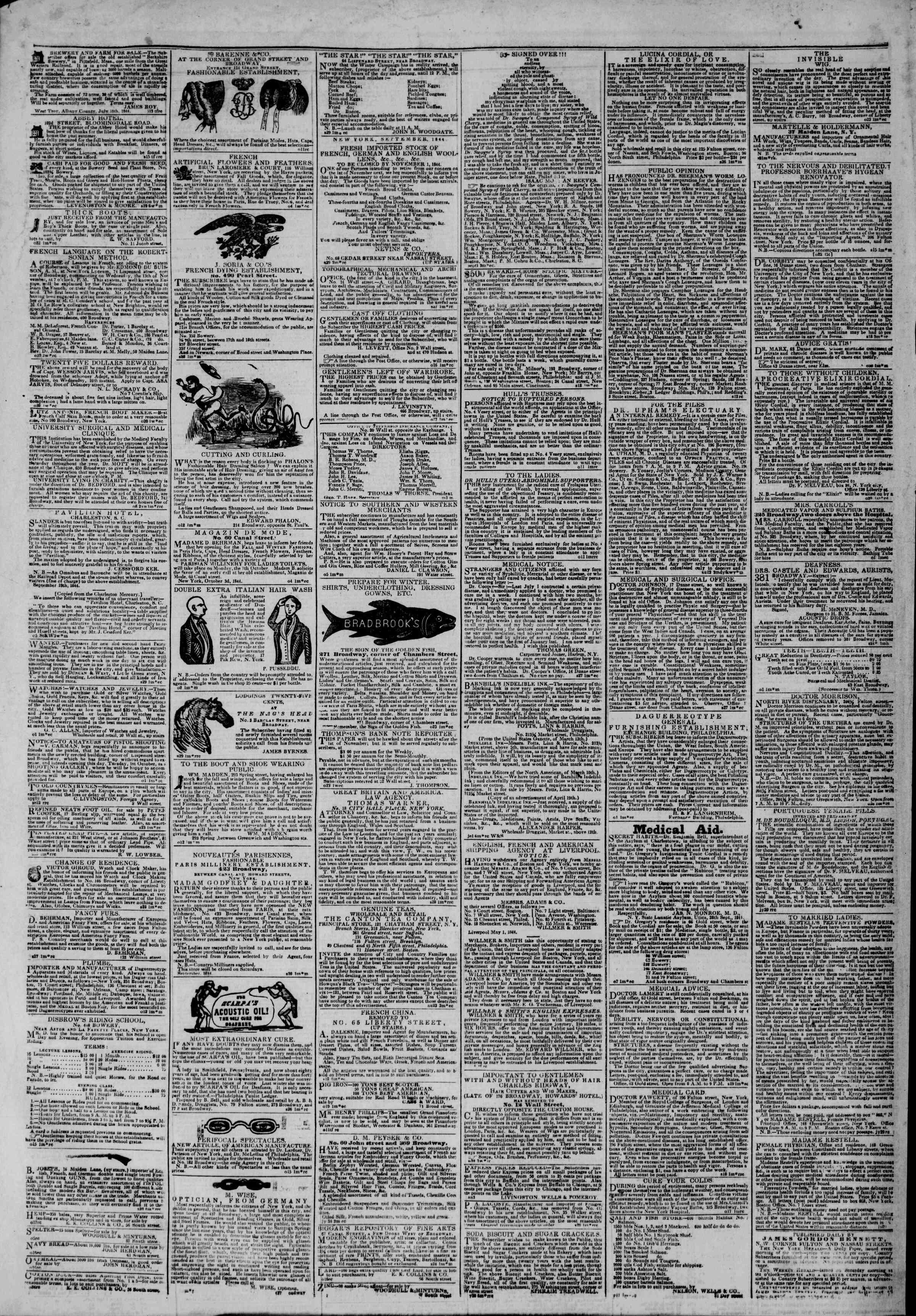 October 28, 1844 Tarihli The New York Herald Gazetesi Sayfa 4