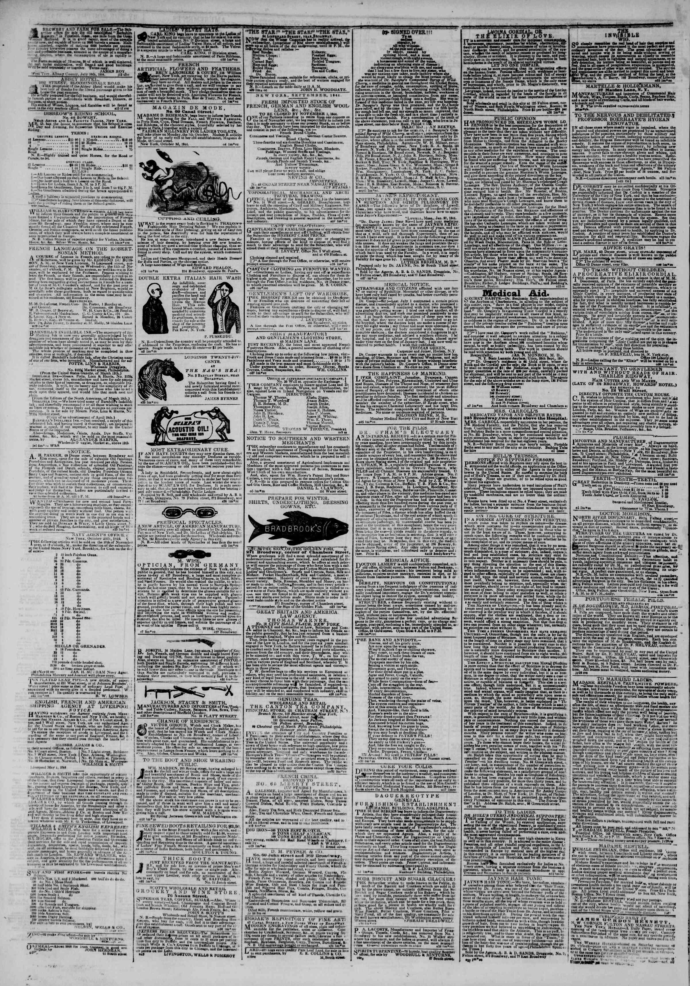 November 2, 1844 Tarihli The New York Herald Gazetesi Sayfa 4