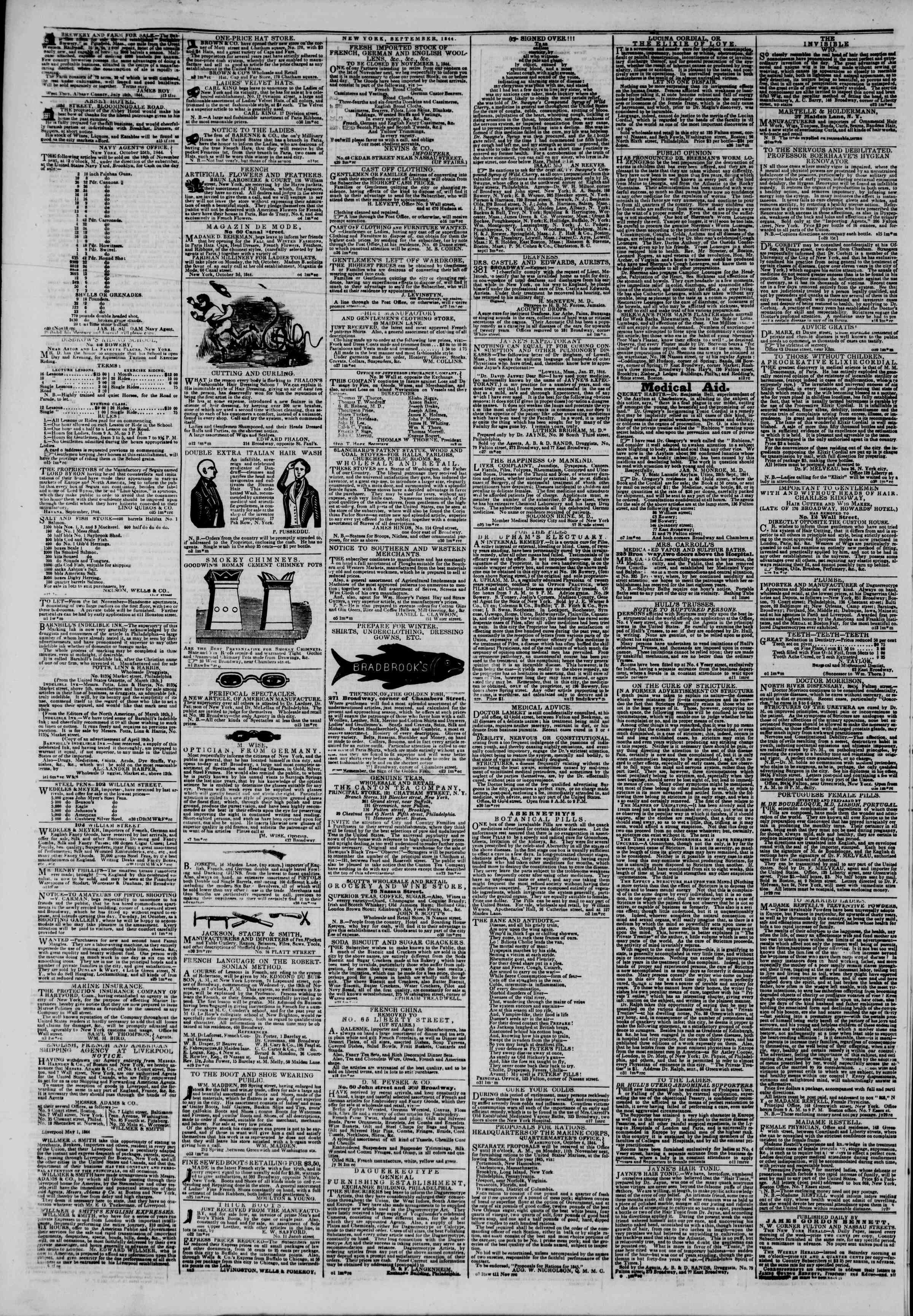 November 7, 1844 Tarihli The New York Herald Gazetesi Sayfa 4