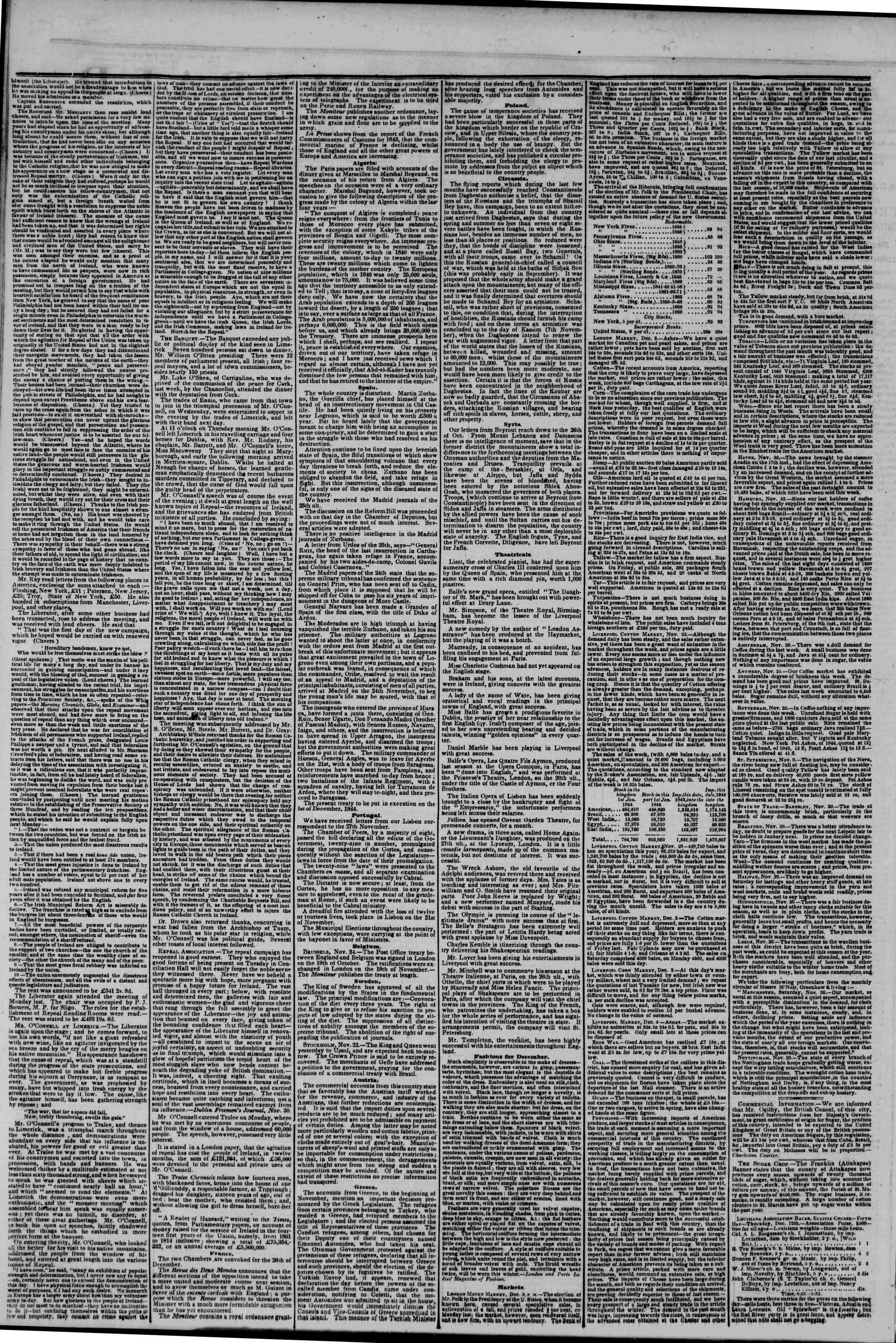 Newspaper of The New York Herald dated December 23, 1844 Page 2