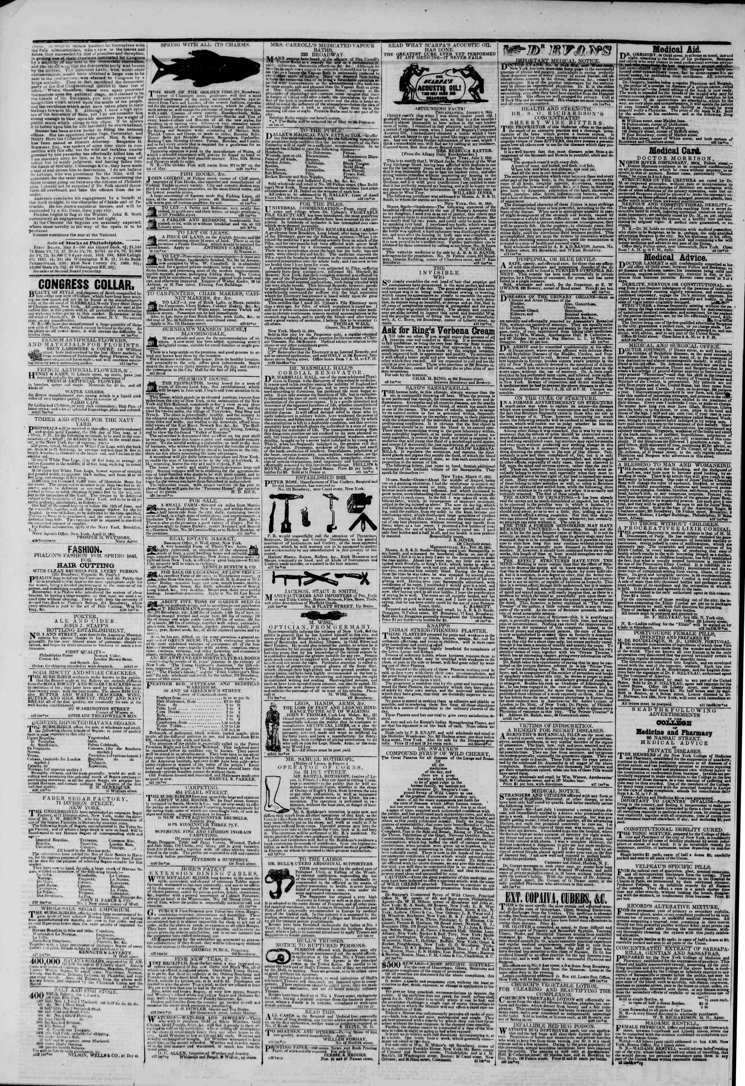 May 4, 1845 Tarihli The New York Herald Gazetesi Sayfa 4