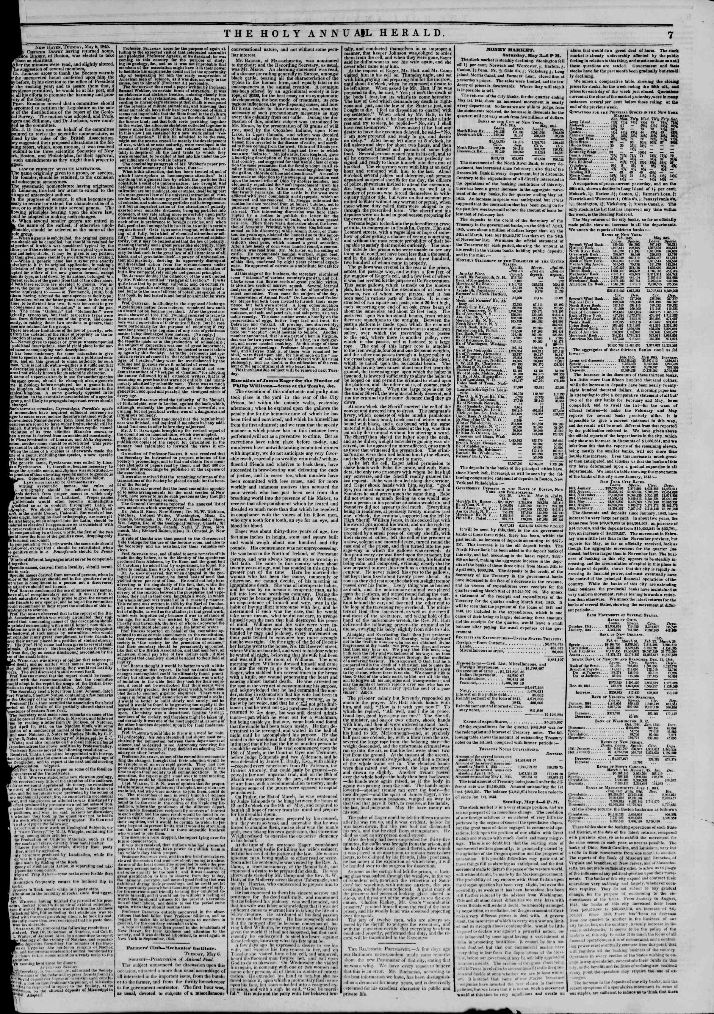 Newspaper of The New York Herald dated May 10, 1845 Page 11