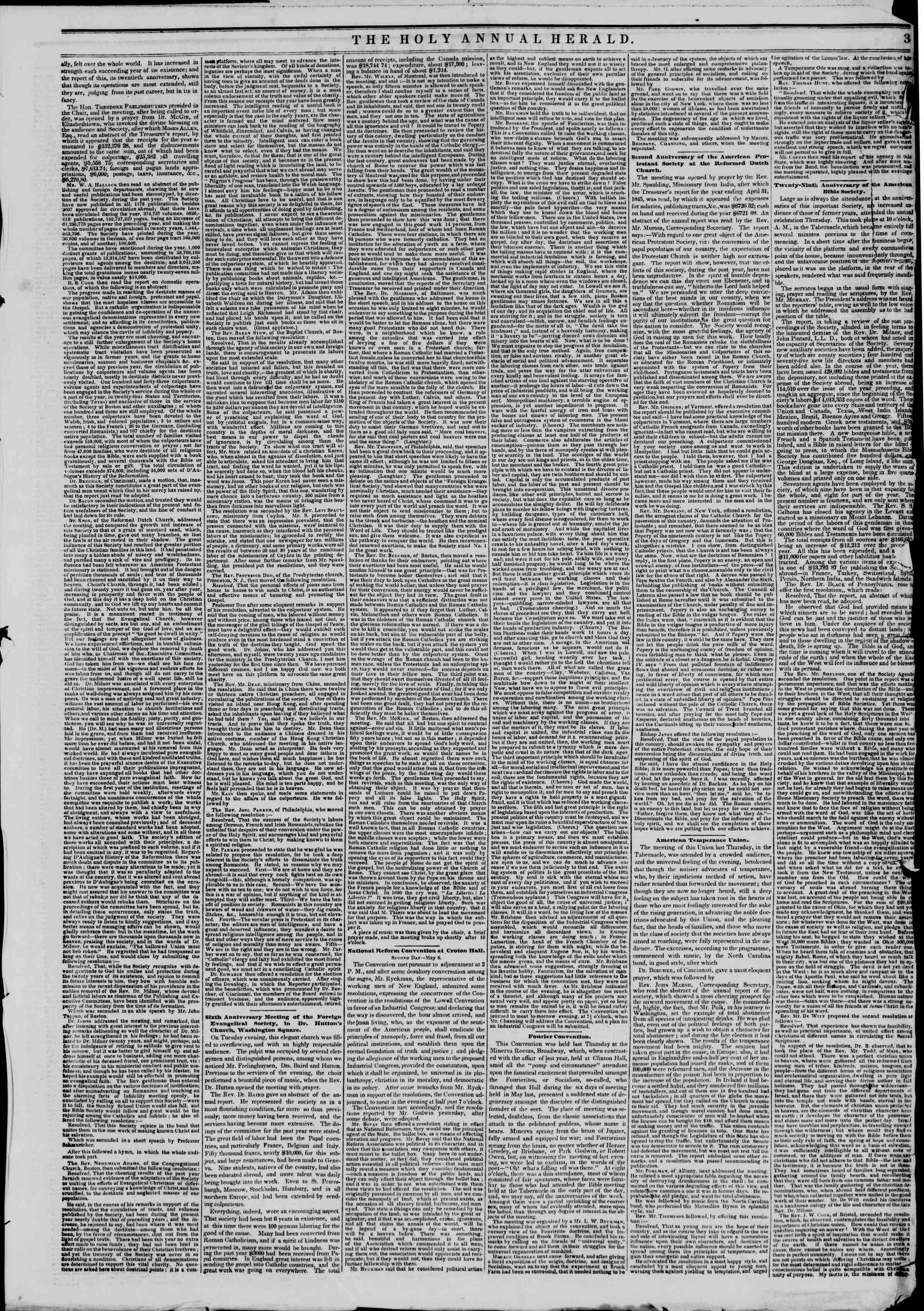 Newspaper of The New York Herald dated May 10, 1845 Page 7
