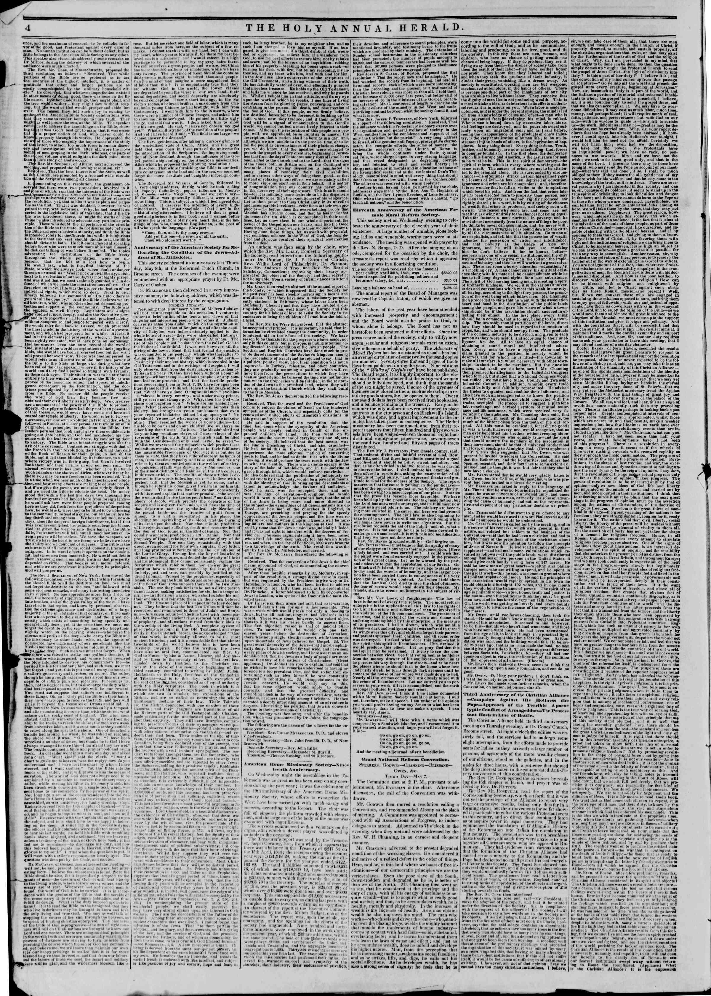 May 10, 1845 Tarihli The New York Herald Gazetesi Sayfa 8