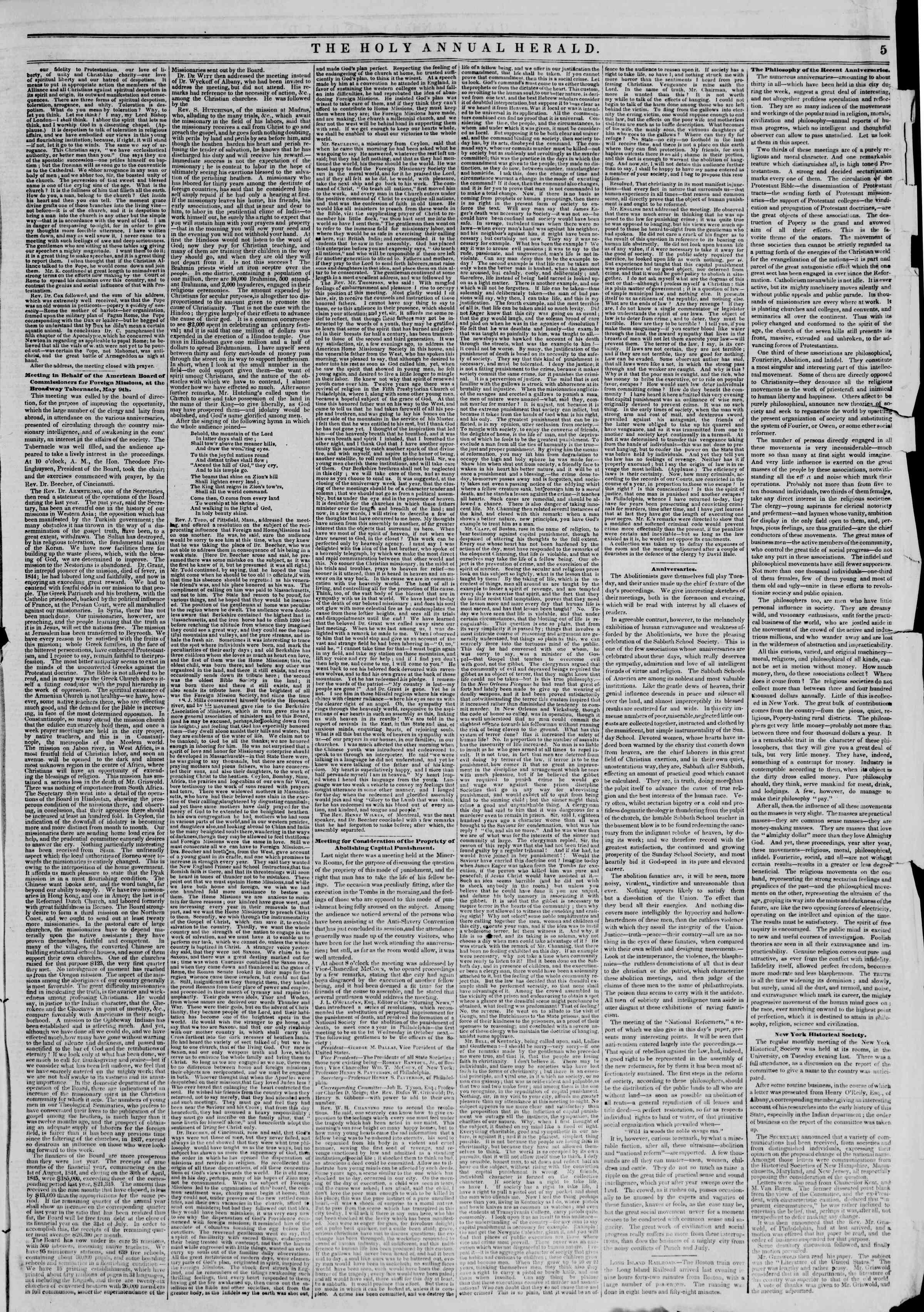 Newspaper of The New York Herald dated May 10, 1845 Page 9