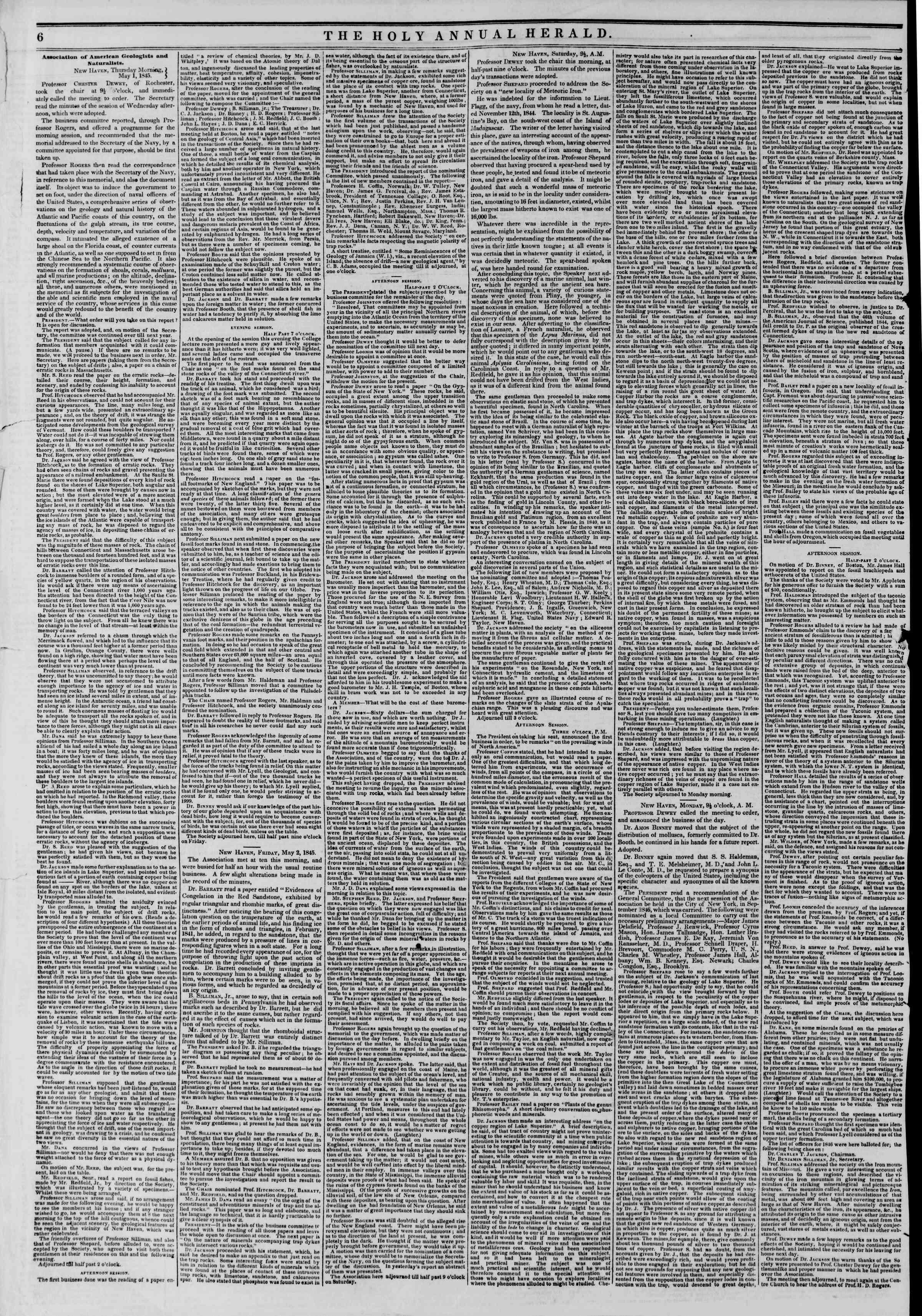 May 10, 1845 Tarihli The New York Herald Gazetesi Sayfa 10