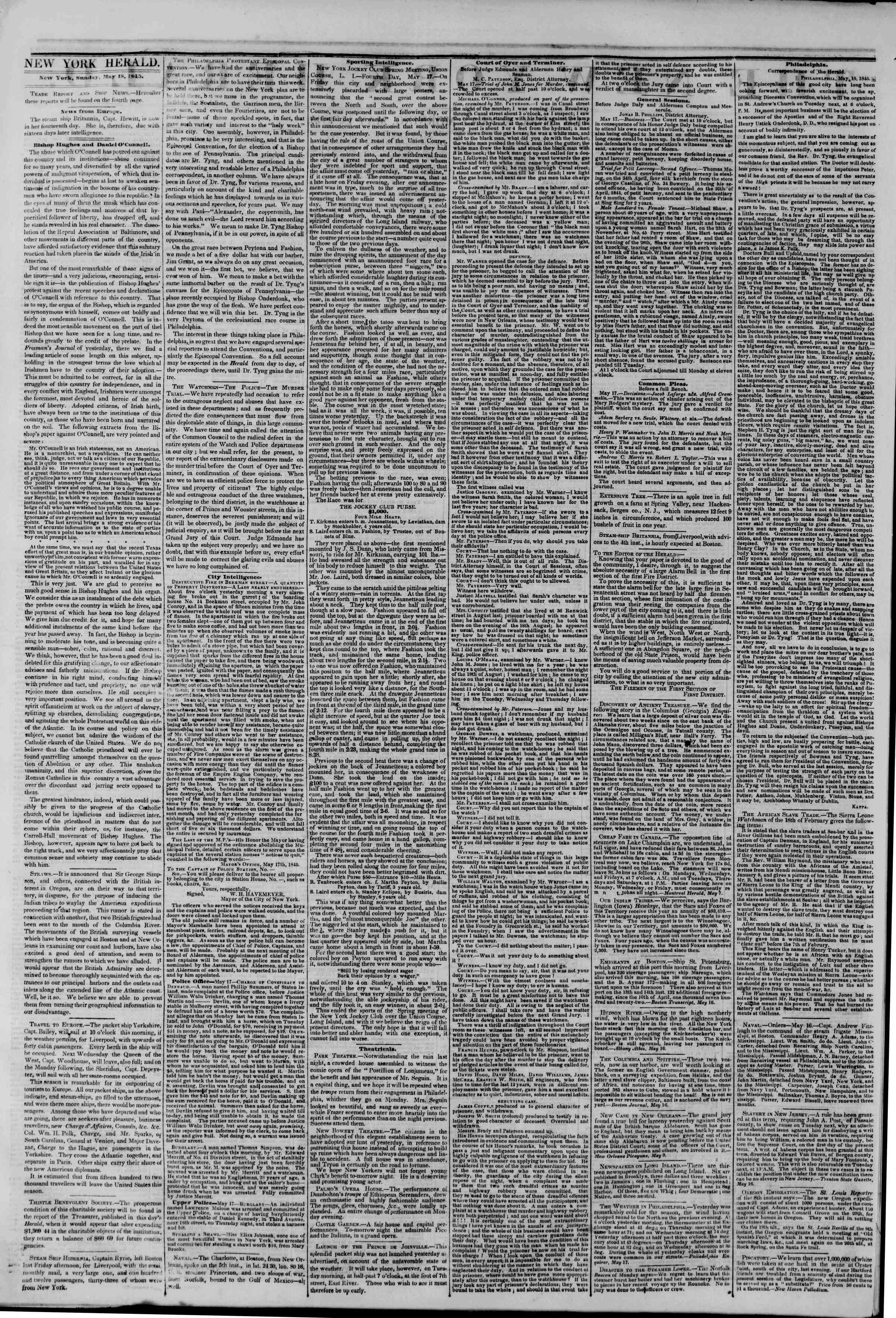 Newspaper of The New York Herald dated May 18, 1845 Page 2